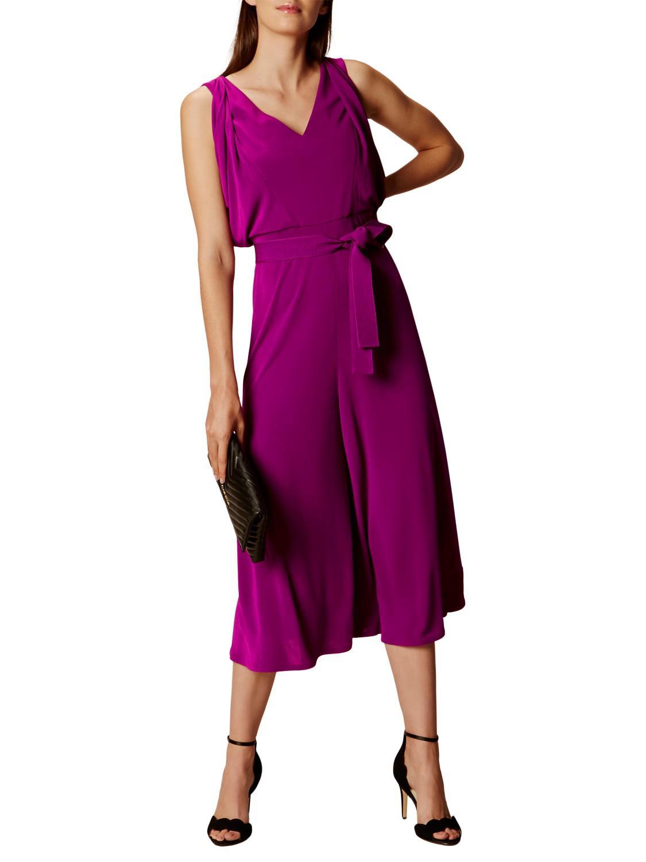 903468b056d Karen Millen Mega Drape Jumpsuit in Purple - Lyst