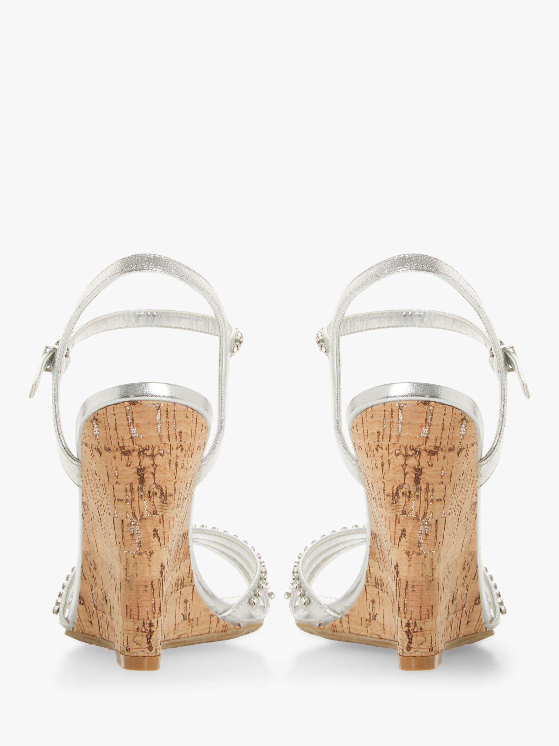 ef0a9d48d031 Dune - Metallic Minke Wedge Heel Diamante Sandals - Lyst. View fullscreen