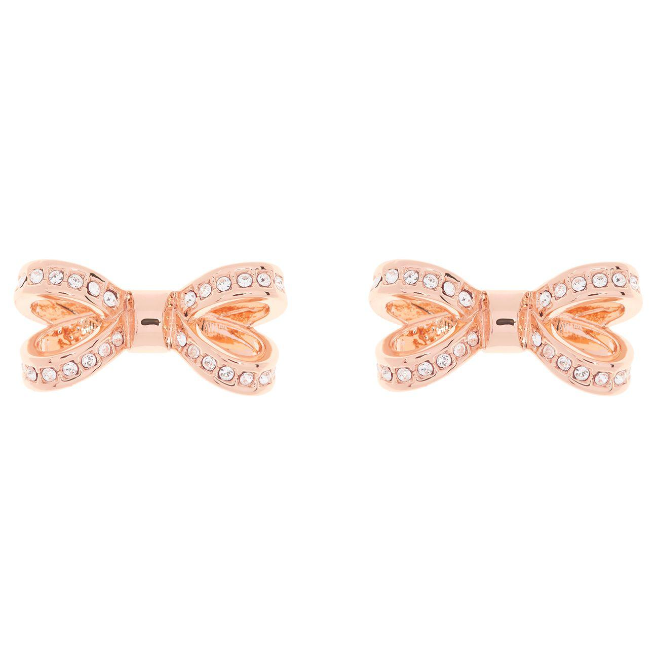 e661fc48a Ted Baker Olitta Mini Pave Swarovski Crystal Bow Stud Earrings in ...