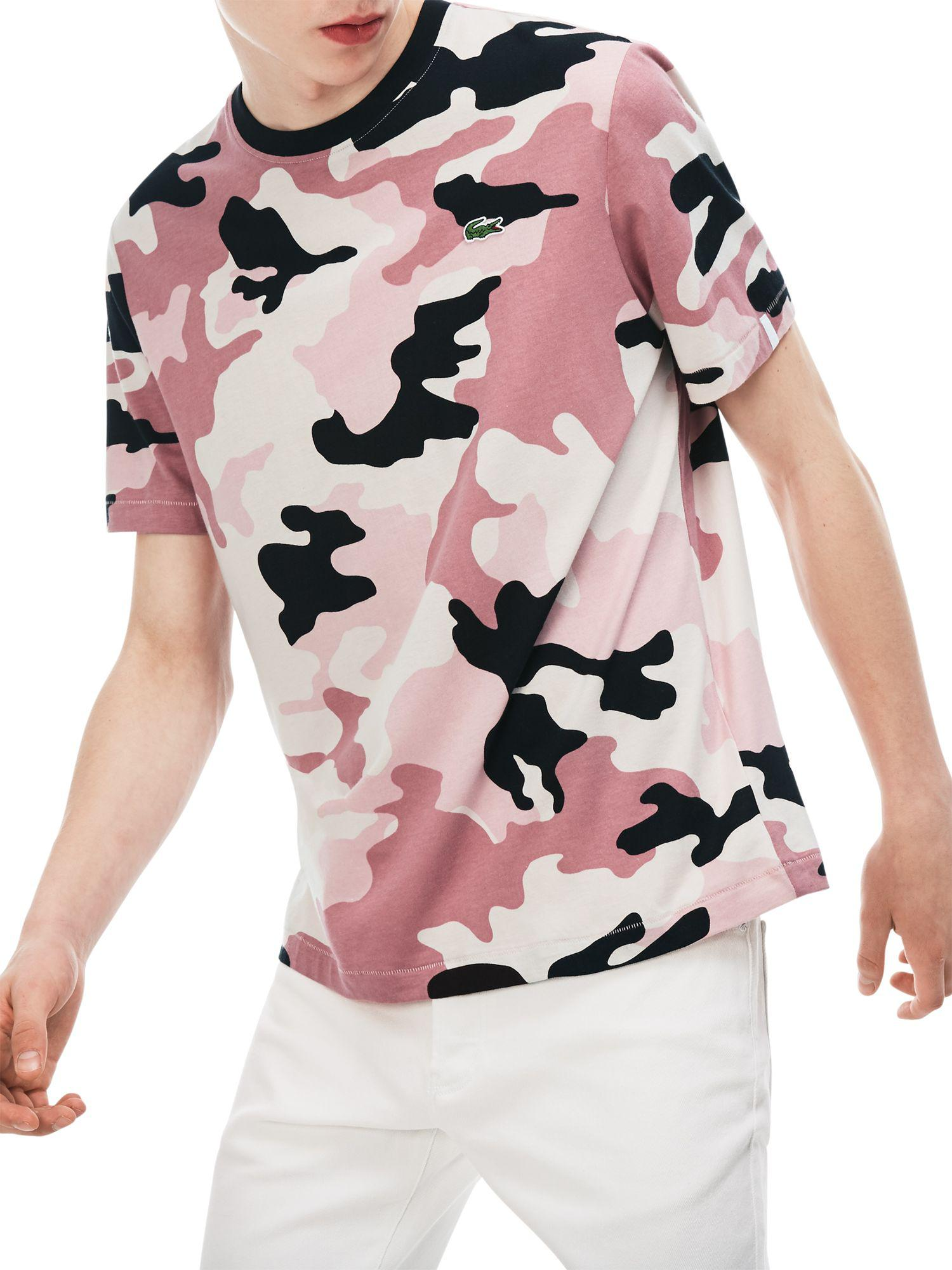 27f0c10e Lacoste Live Crew Neck Camouflage T-shirt in Pink for Men - Lyst
