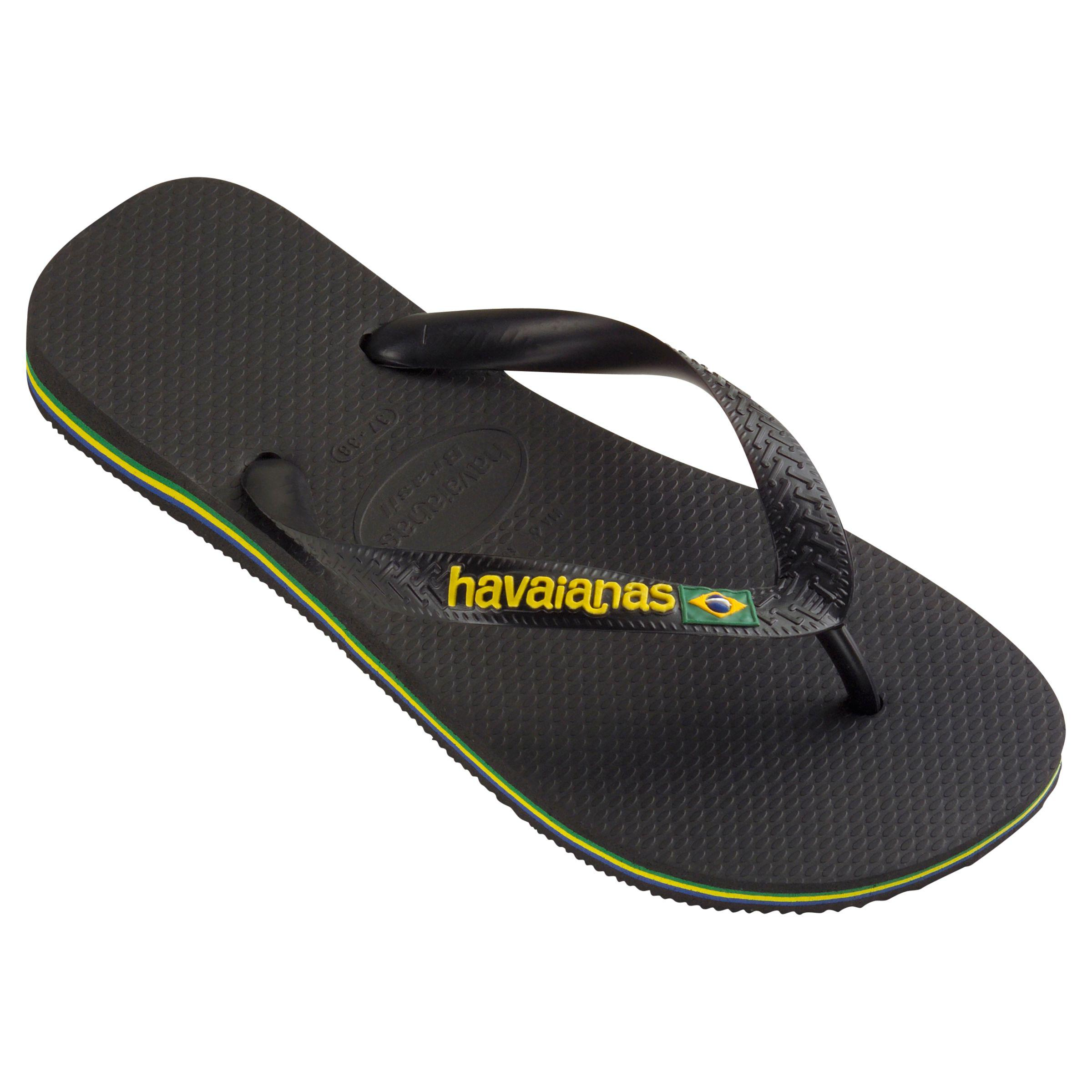 2dd28fb2610b Havaianas Brasil Logo Flip Flops in Yellow for Men - Lyst