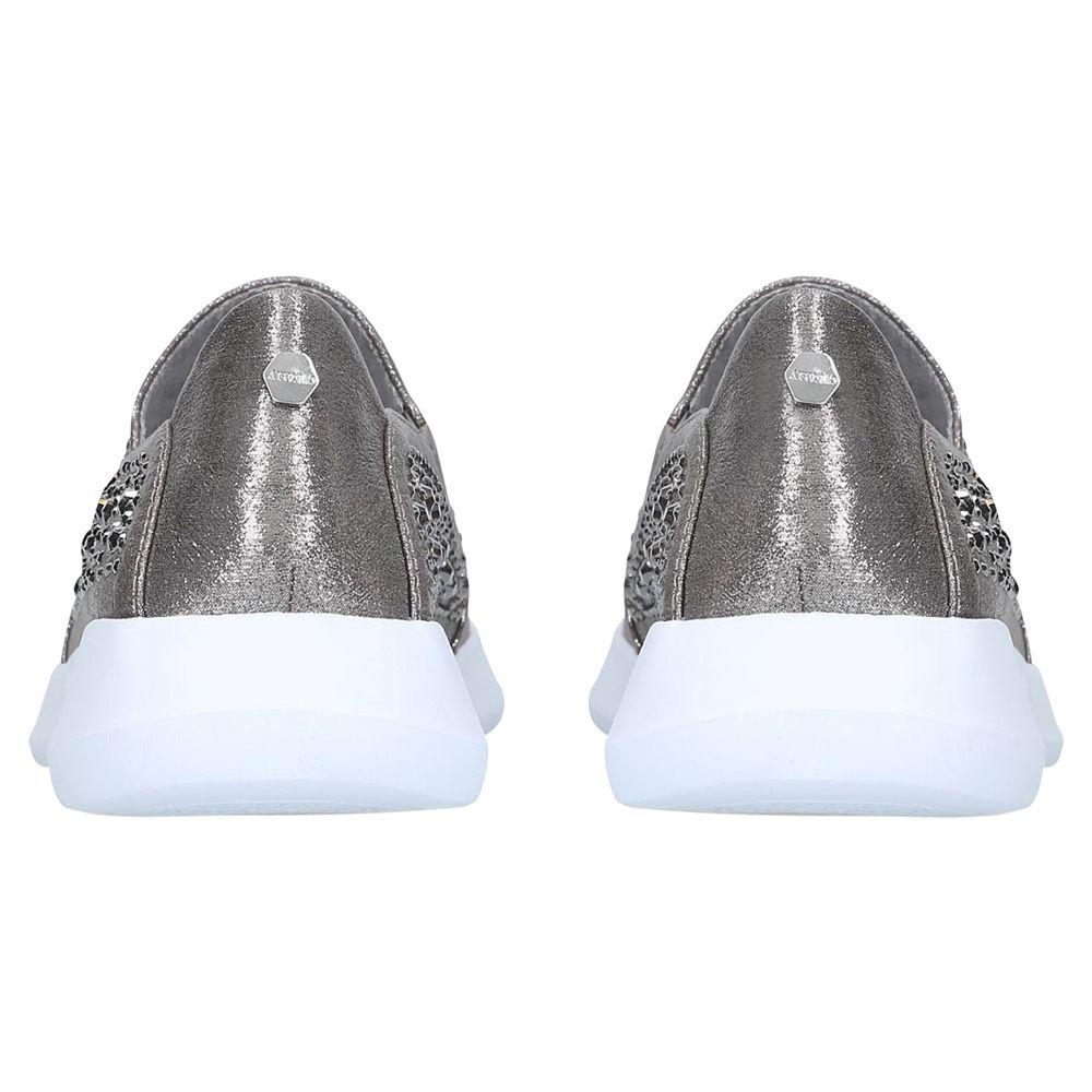 59516eee3ec Carvela Kurt Geiger - Metallic Calya Embellished Slip On Trainers - Lyst.  View fullscreen