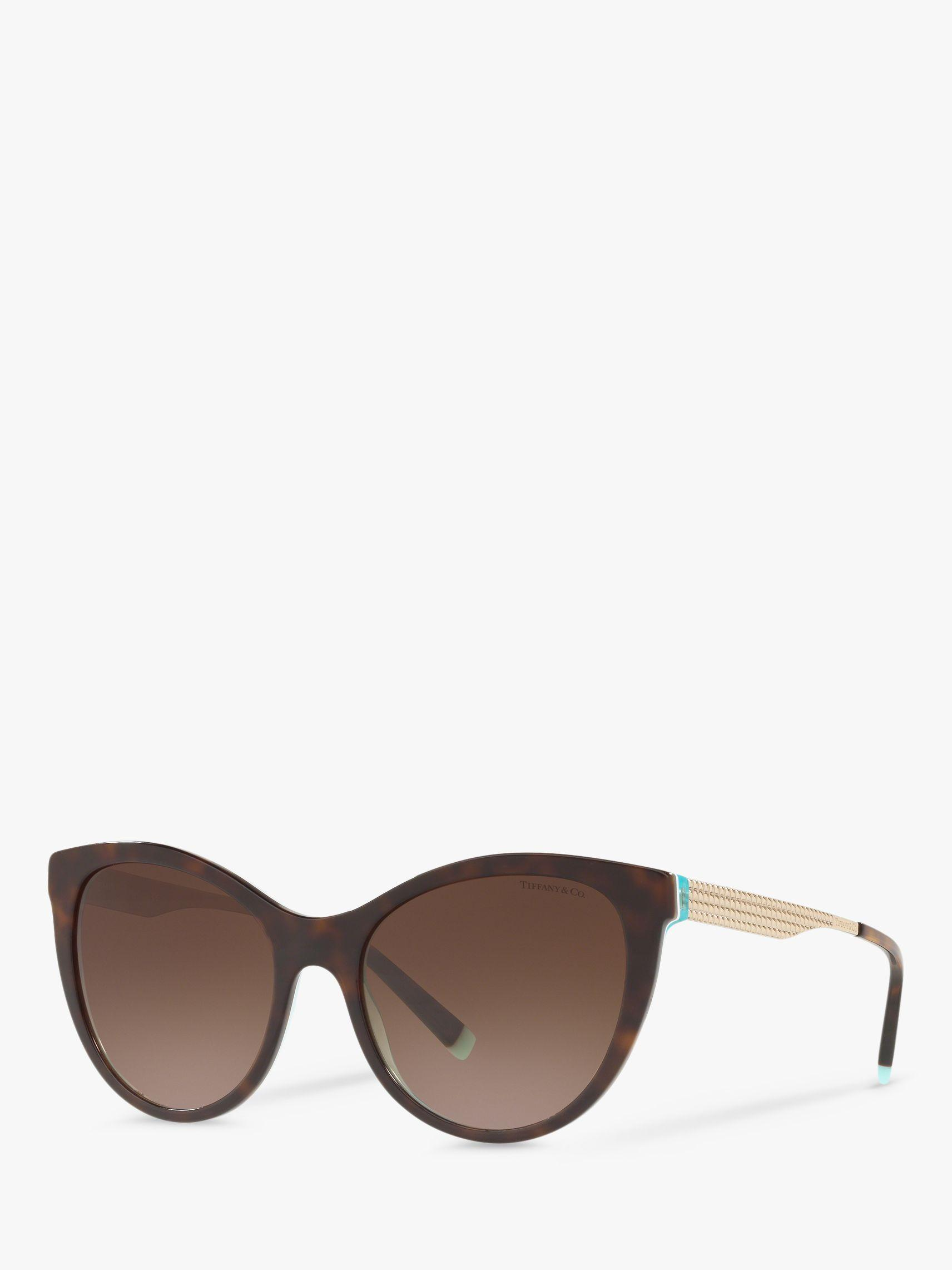 7579b4571b58 Tiffany & Co. Brown Tf4159 Women's Cat's Eye Sunglasses. £269 From John  Lewis and Partners