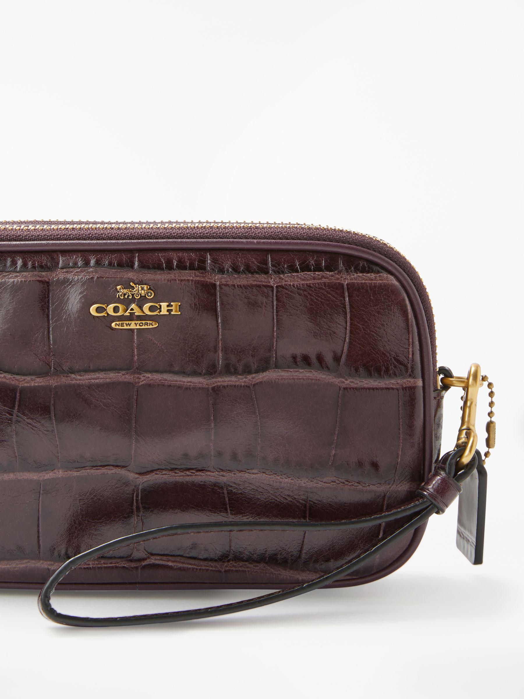 c4225effed39 COACH Croc Cross Body Bag - Lyst