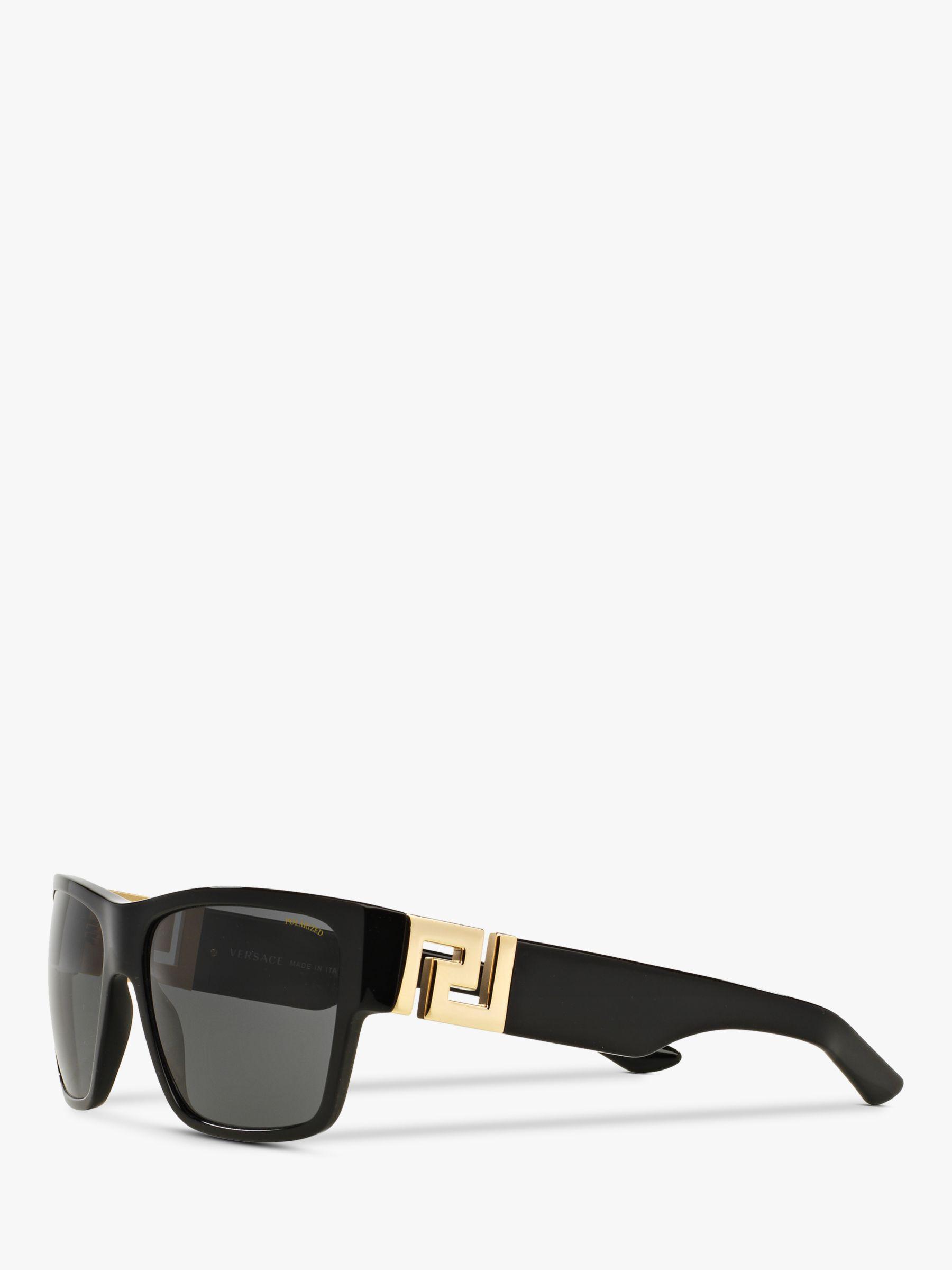 c835499417ee Versace Ve4296 Men s Polarised Square Sunglasses in Black for Men - Lyst