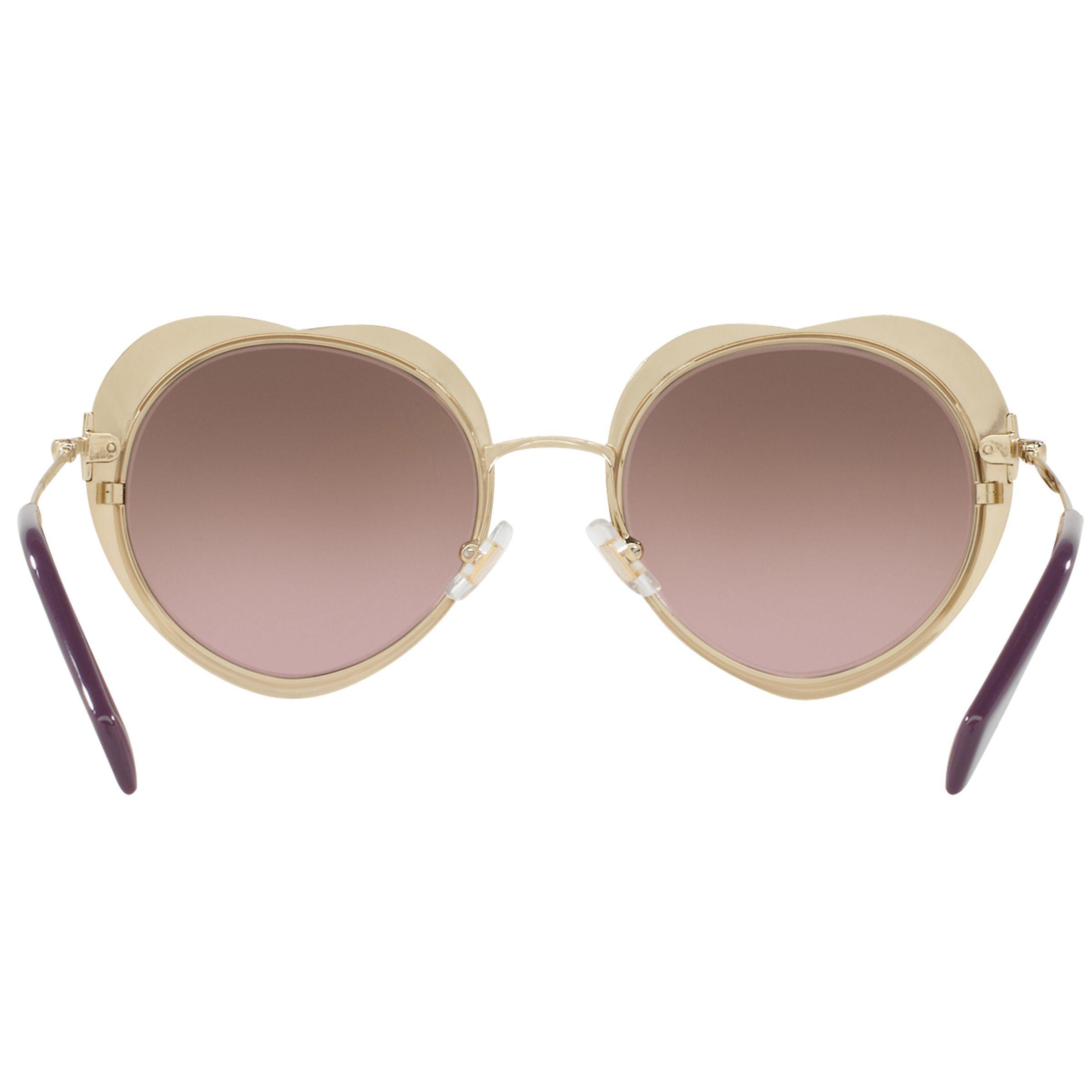 5693b8babf Miu Miu Mu 54rs Oval Sunglasses in Metallic - Lyst