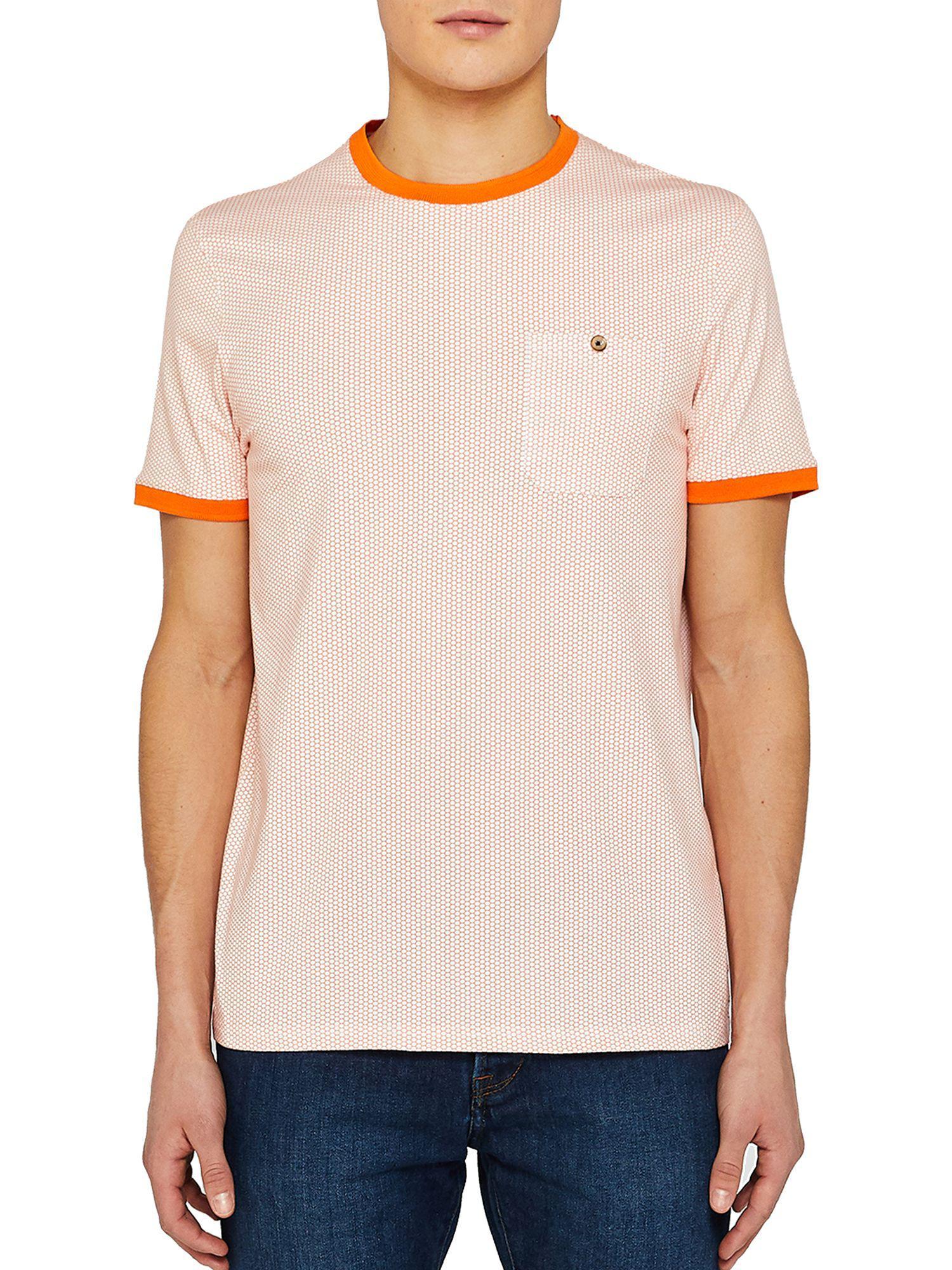 0a7186ec Ted Baker Colla Short Sleeve Printed T-shirt in Orange for Men - Lyst