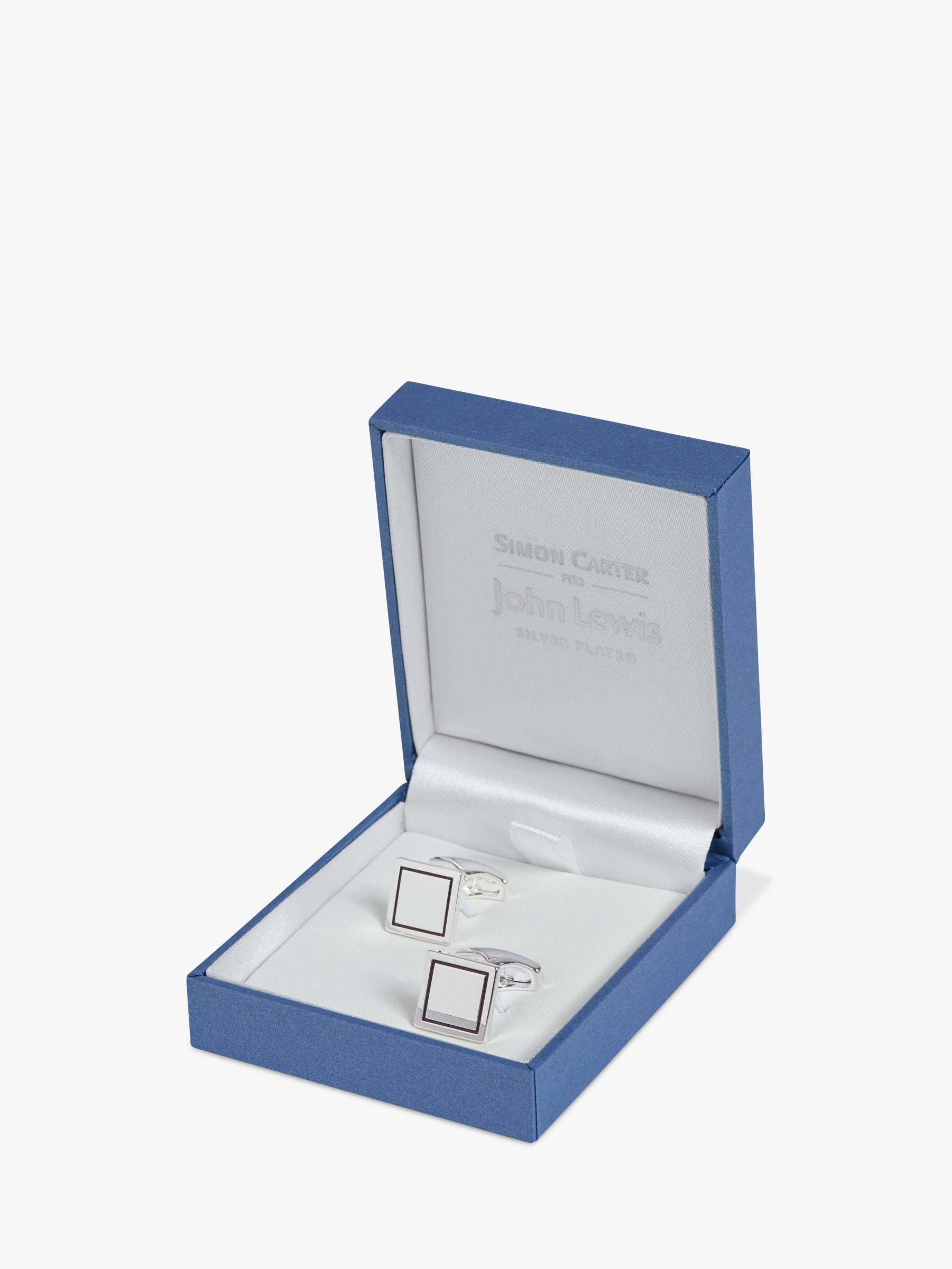 1b2cf893f Simon Carter For John Lewis & Partners Square Cufflinks in Metallic for Men  - Lyst