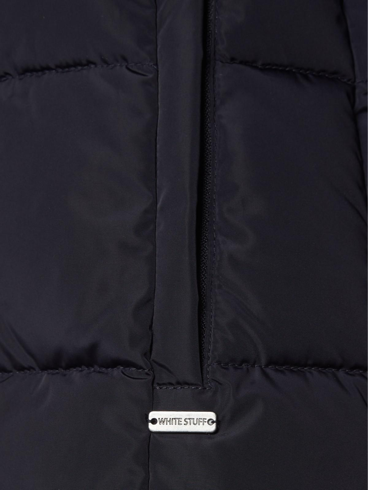 b4aebe372f9 White Stuff Thirlmere Long Quilted Coat in Blue - Lyst
