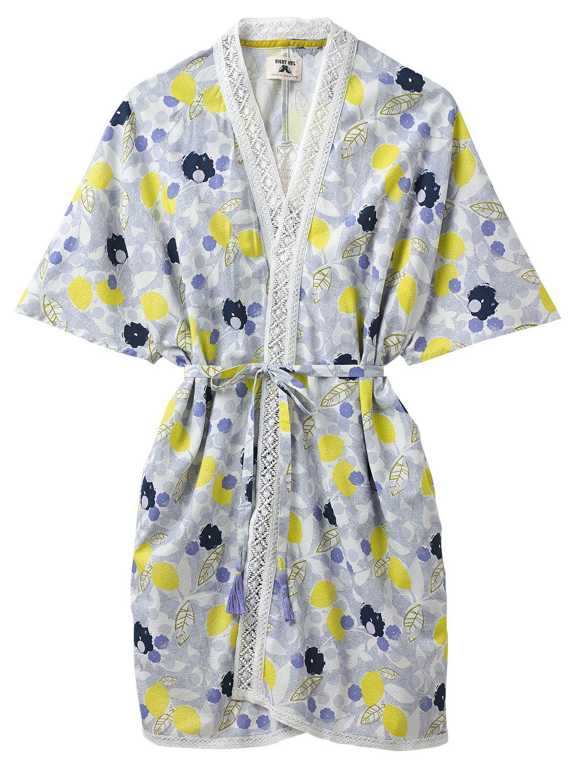 Lyst - White Stuff Amelie Lemon Dressing Gown in Blue