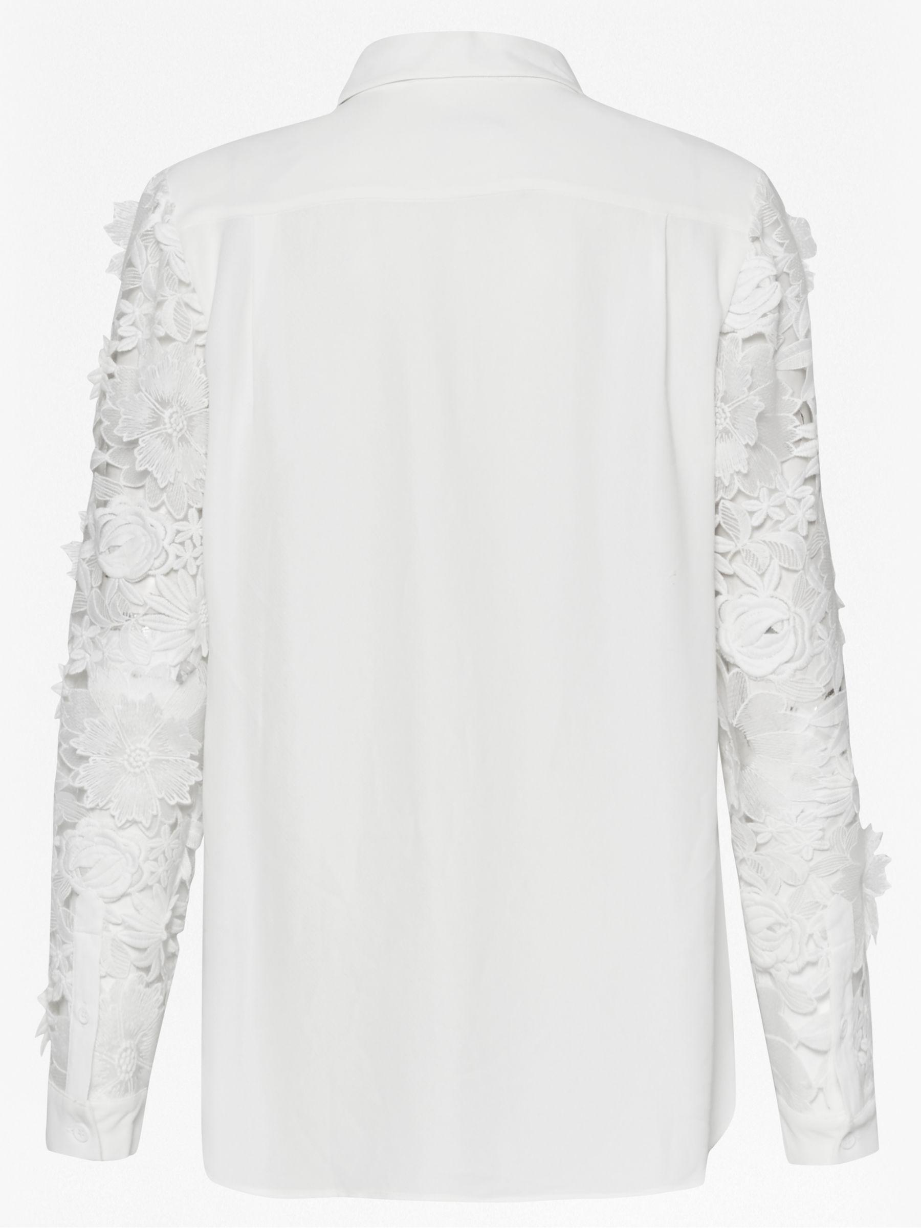 b7af50cbc41 French Connection Manzoni Lace Long Sleeve Shirt in White - Lyst