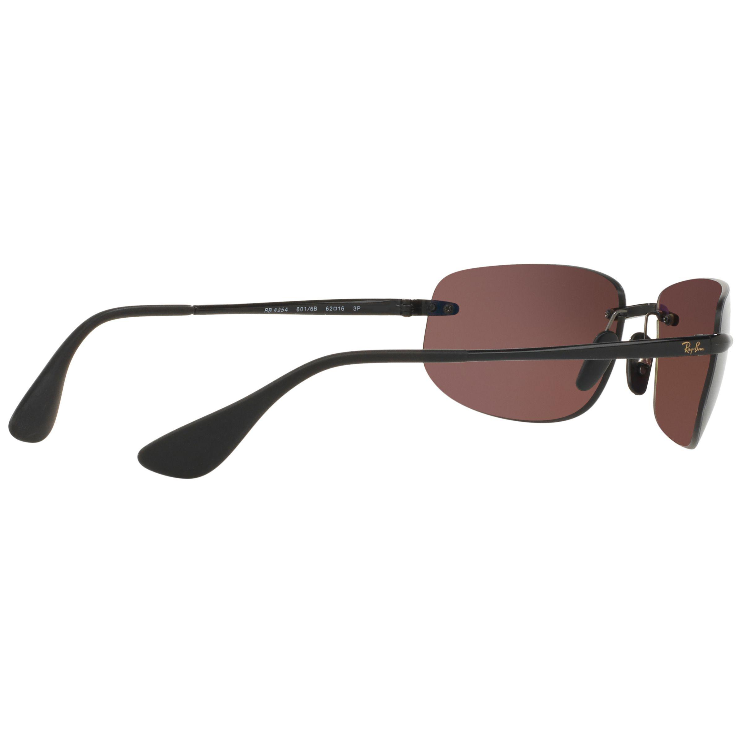 81b4f9bb59 Ray-Ban Rb4254 Chromance Polarised Rectangular Sunglasses in Purple ...