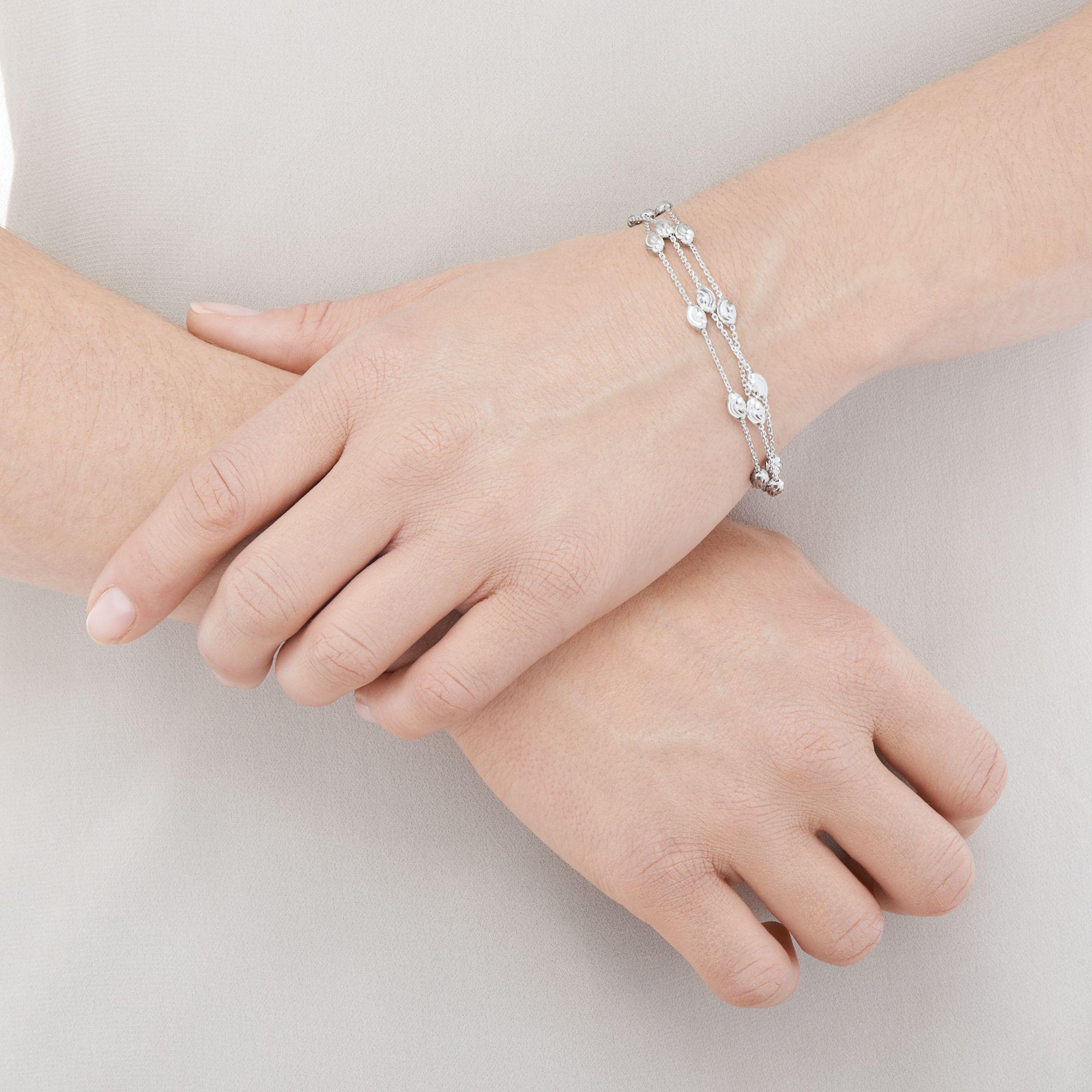 984bb6c64dbf5 Links of London - Metallic Essentials Sterling Silver Beaded Chain 3 Row  Bracelet - Lyst. View fullscreen