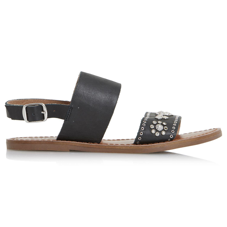 4a8dd45aed7b Dune Luma Embellished Flat Sandals in Black - Lyst