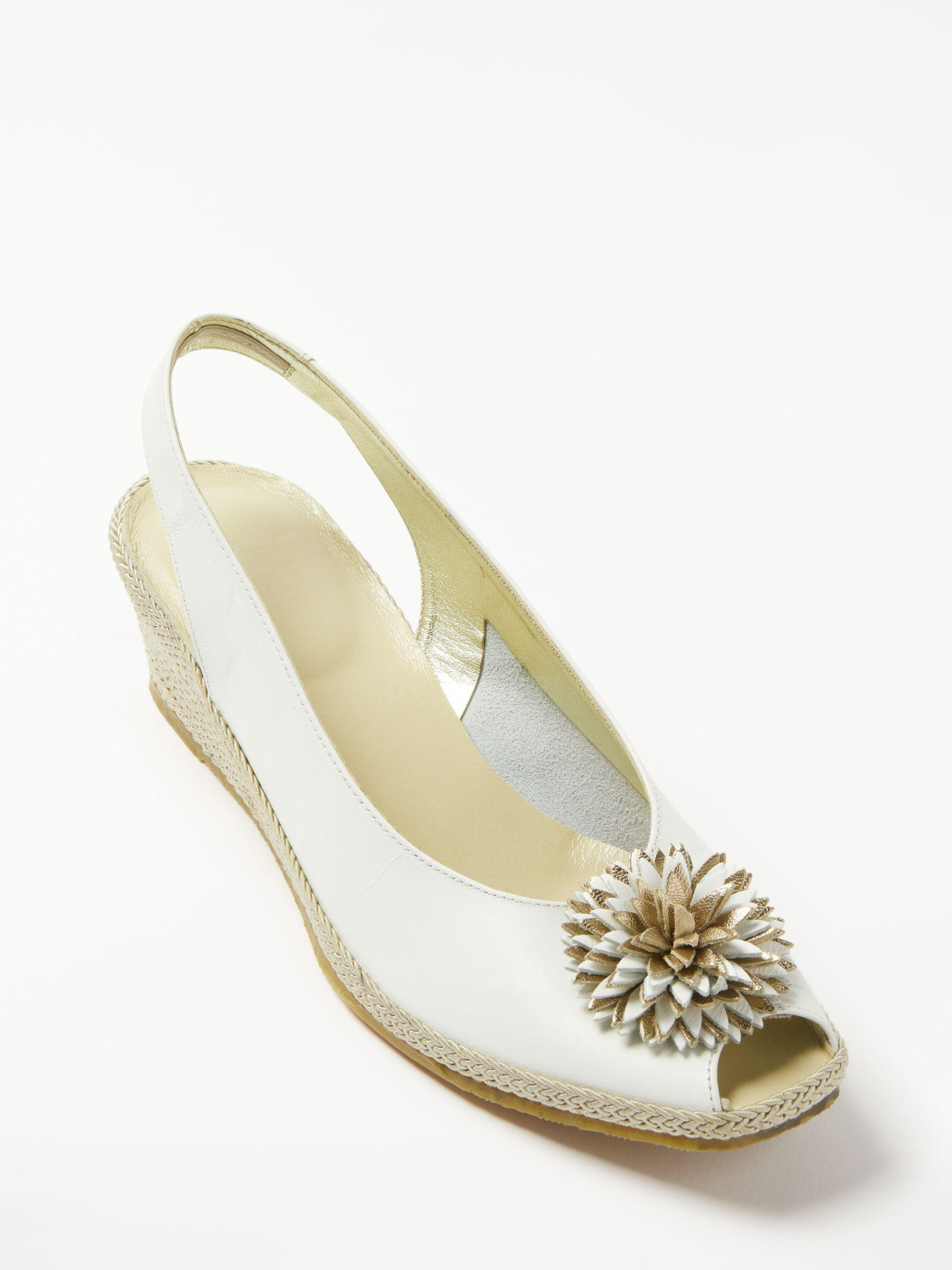 John Lewis Rose Flower In 2 Sandals White Lyst Wedge Heel fgb76y