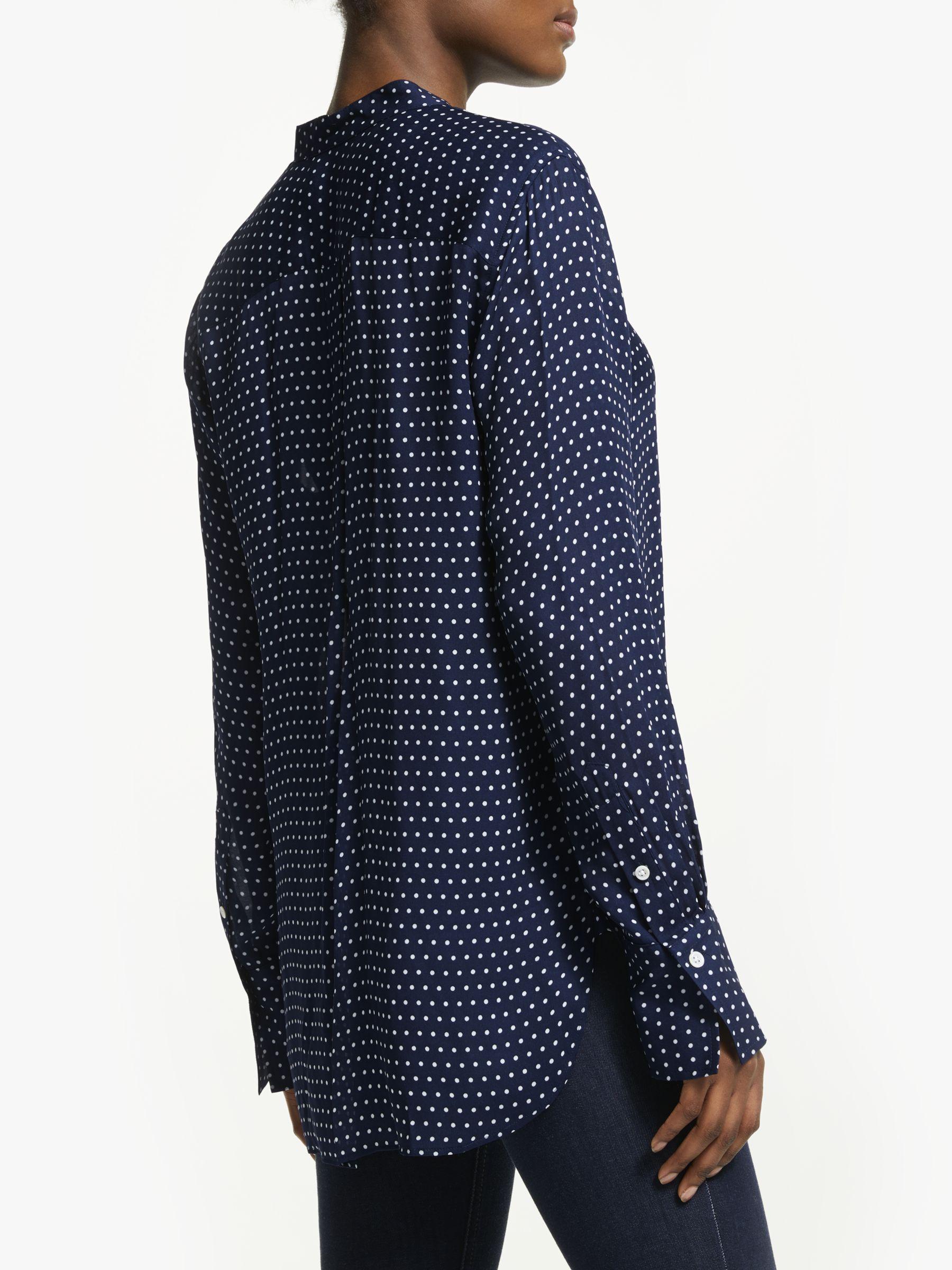 f356f10b987 Ralph Lauren - Blue Polo Desra Polka Dot Silk Shirt - Lyst. View fullscreen