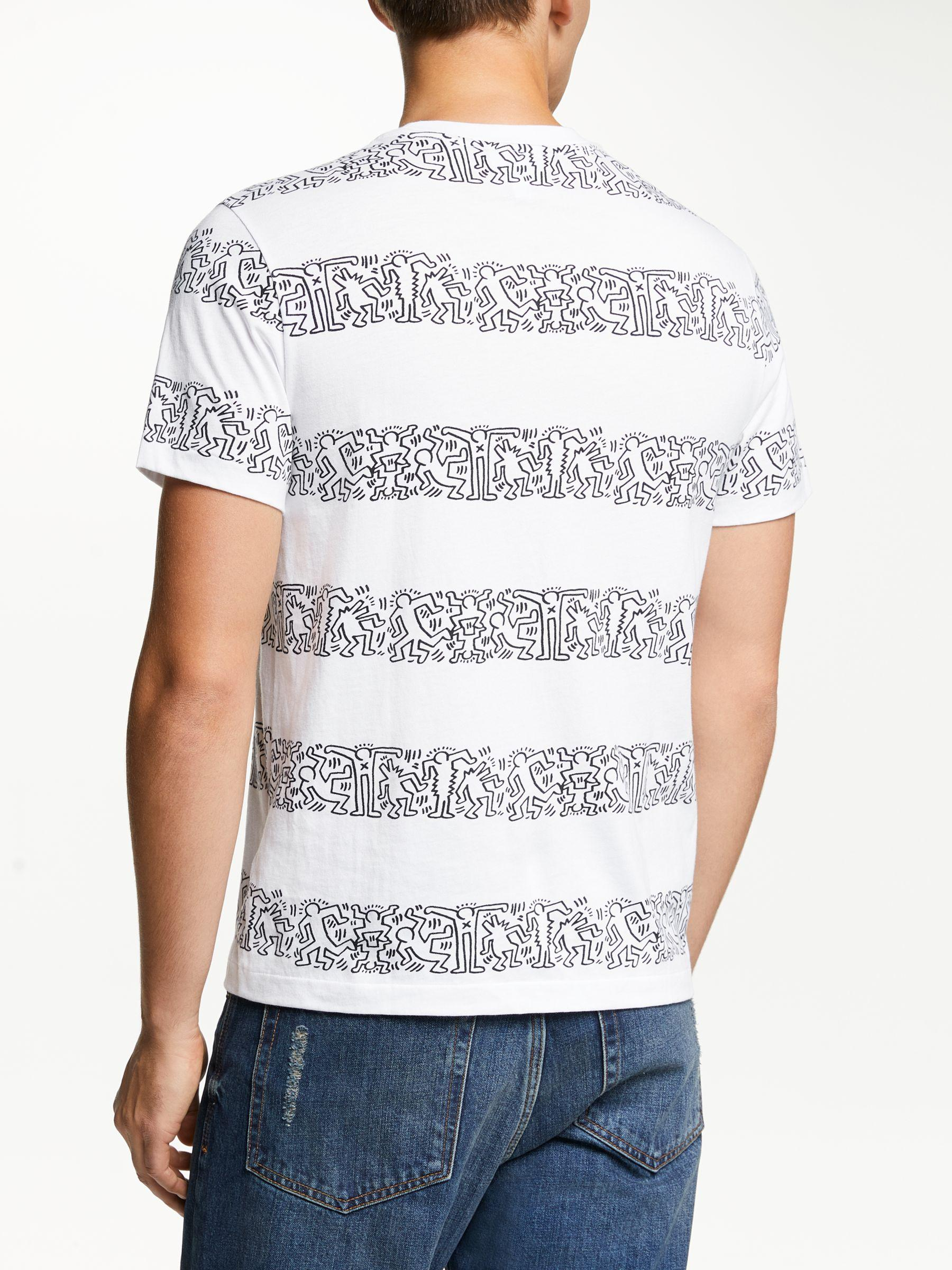 a4c22b4008a Lacoste X Keith Haring Graphic Print Stripe T-shirt in Blue for Men - Lyst