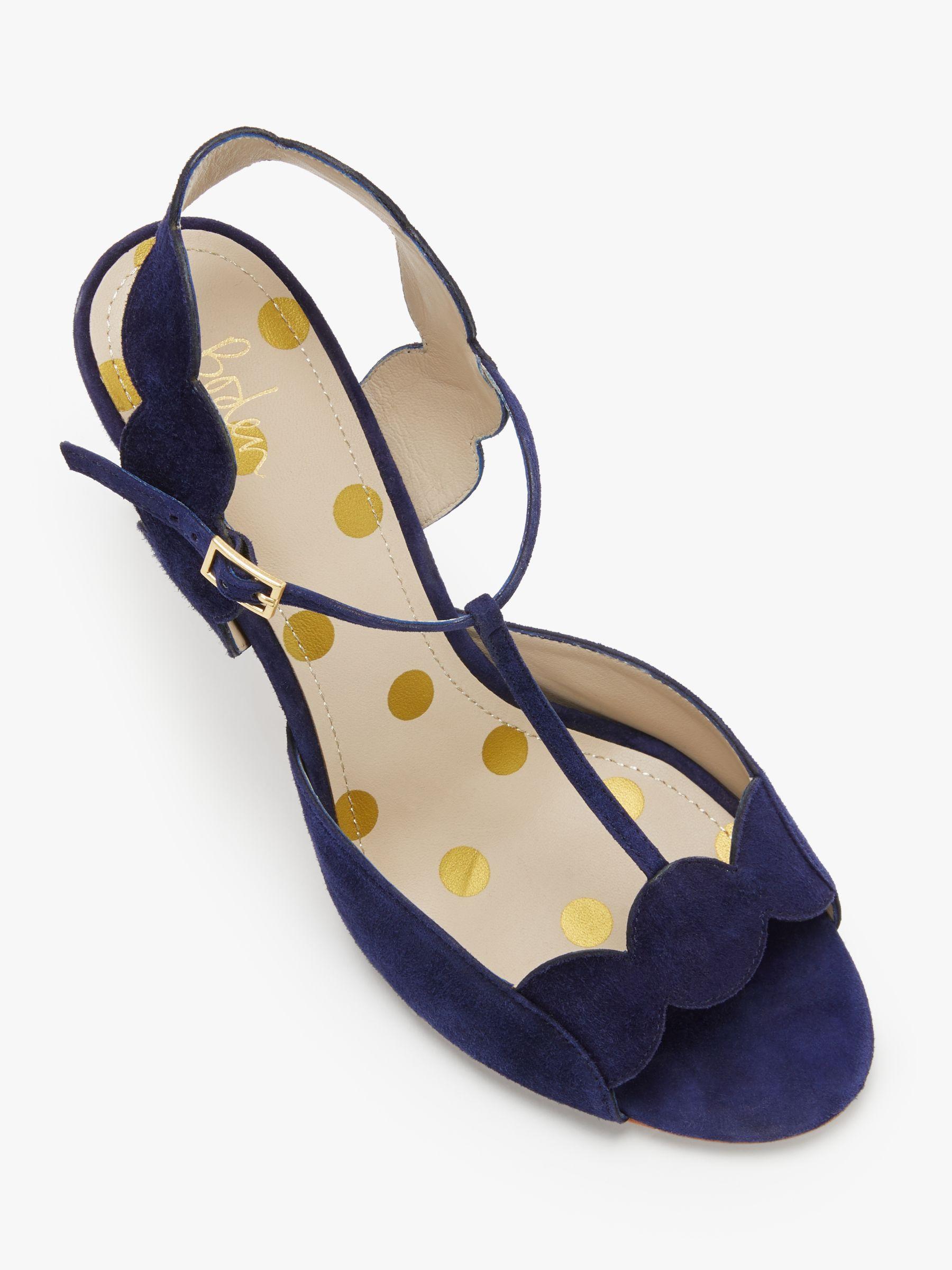 2df16b6bd7e1 Boden - Blue Cecile T-bar Heeled Sandals - Lyst. View fullscreen