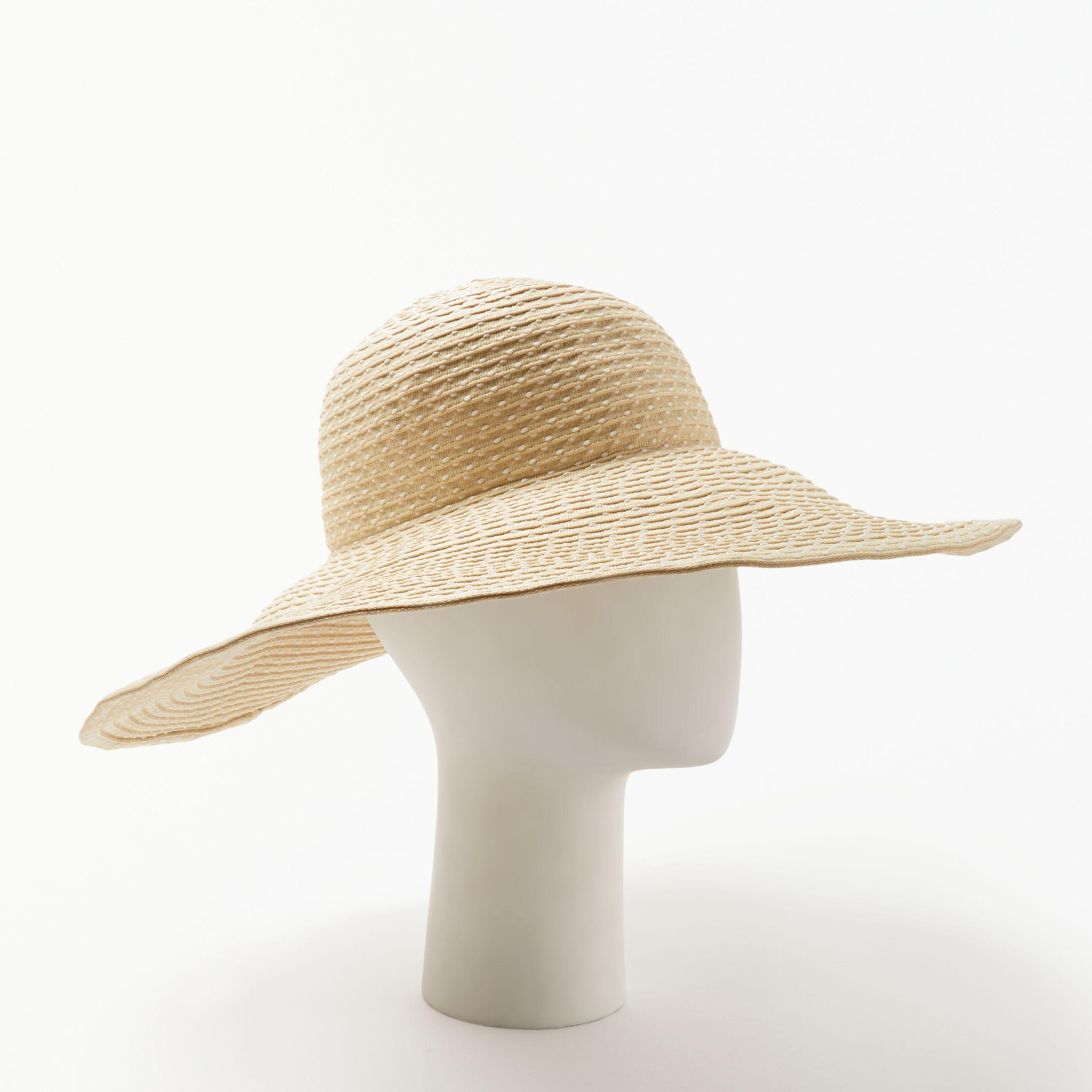 9addffc790d John Lewis Packable Spot Floppy Hat in Natural - Lyst