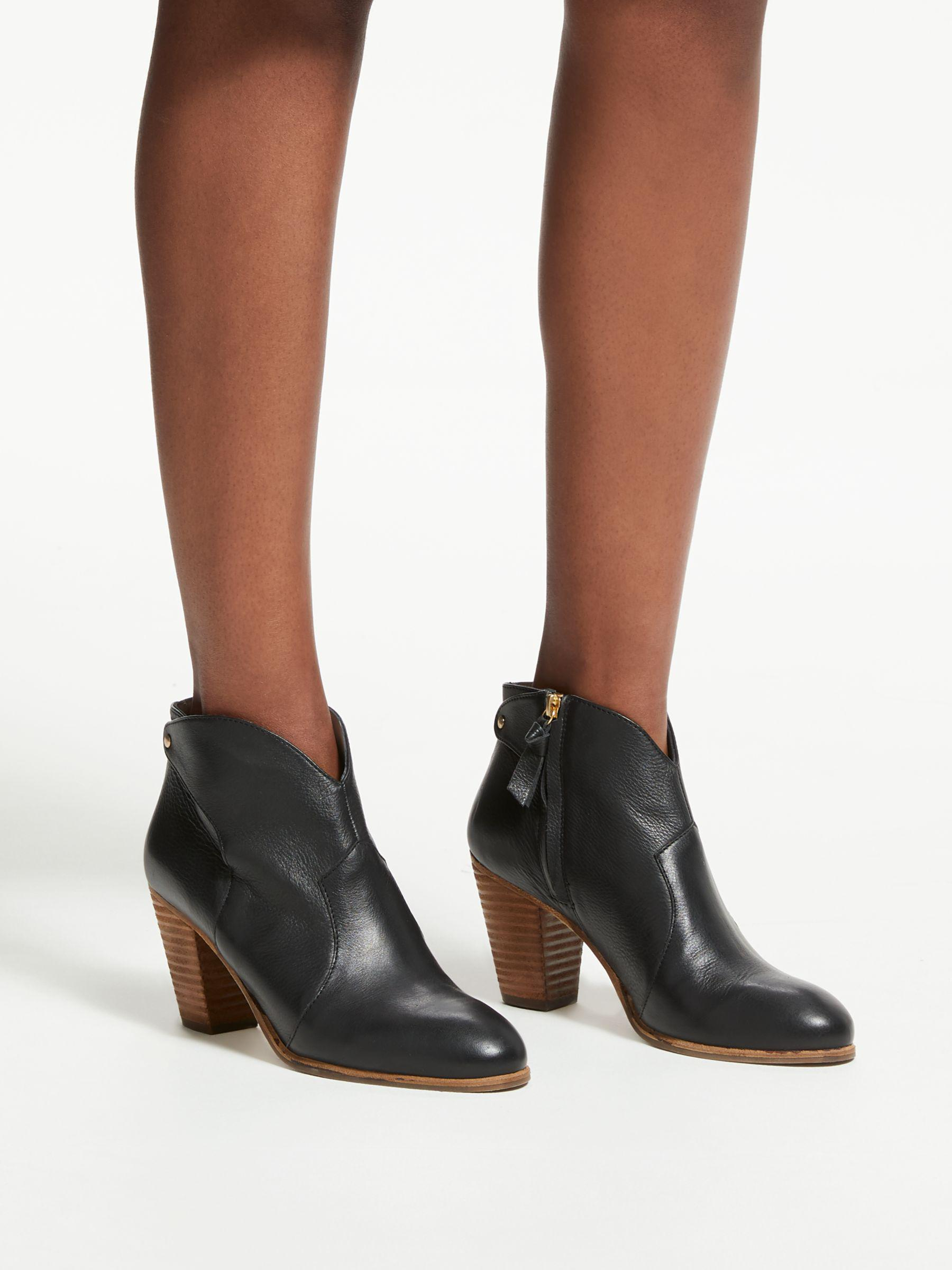 6f9a3623 Boden Hoxton Block Heeled Ankle Boots in Black - Lyst