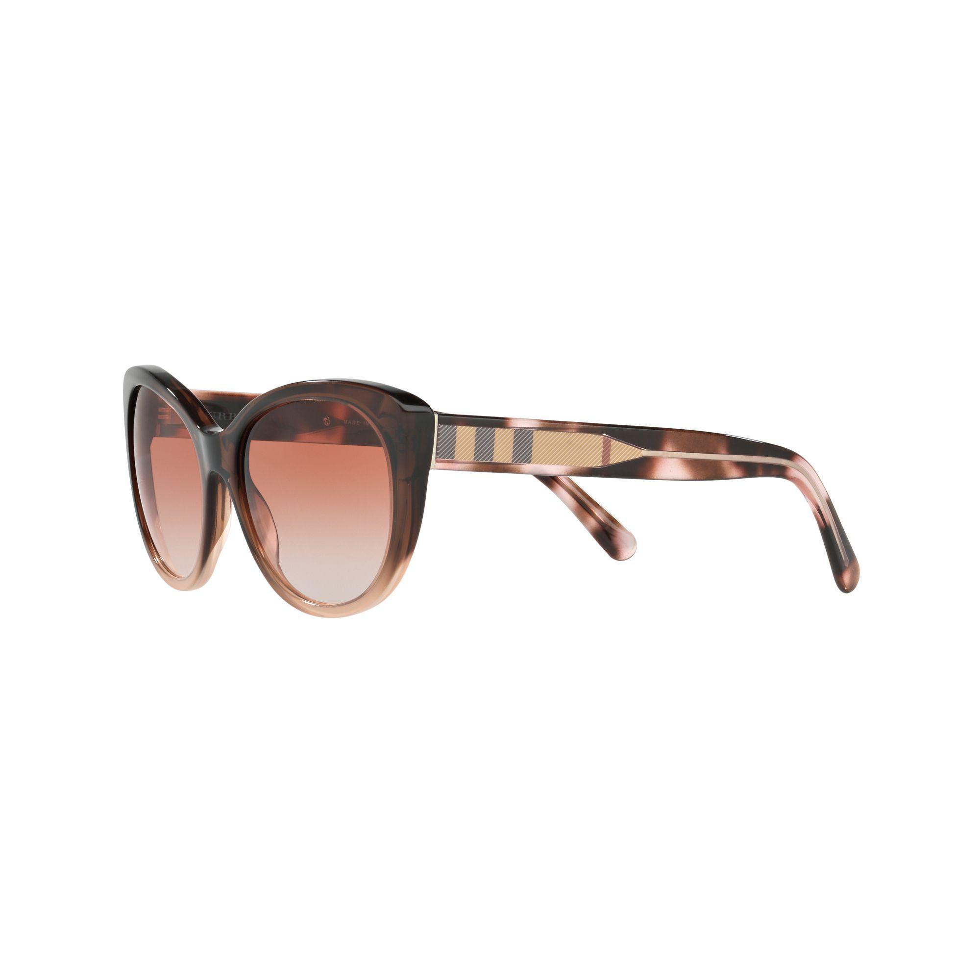 473d7014e1b9 Burberry - Natural Be4224 Cat s Eye Sunglasses - Lyst. View fullscreen