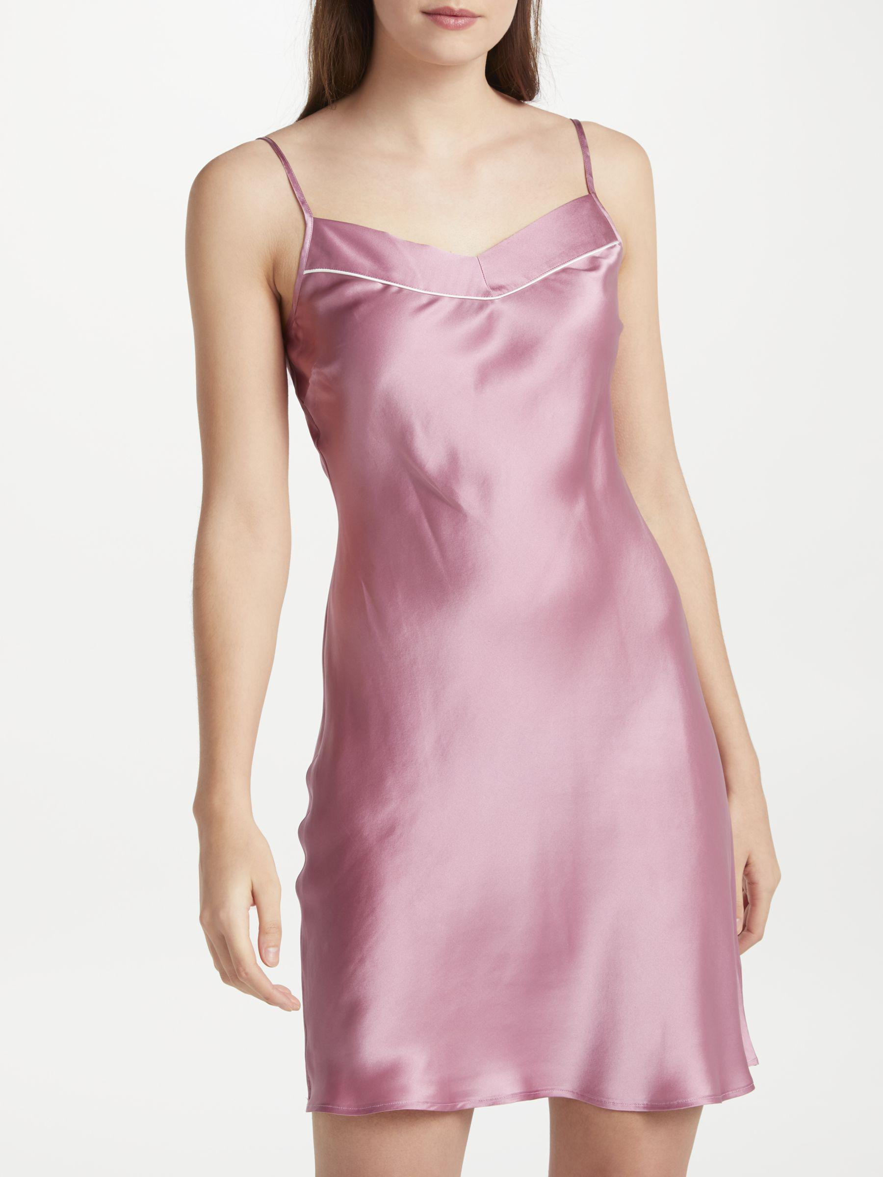 0e4782d9bf John Lewis Silk Chemise in Pink - Lyst