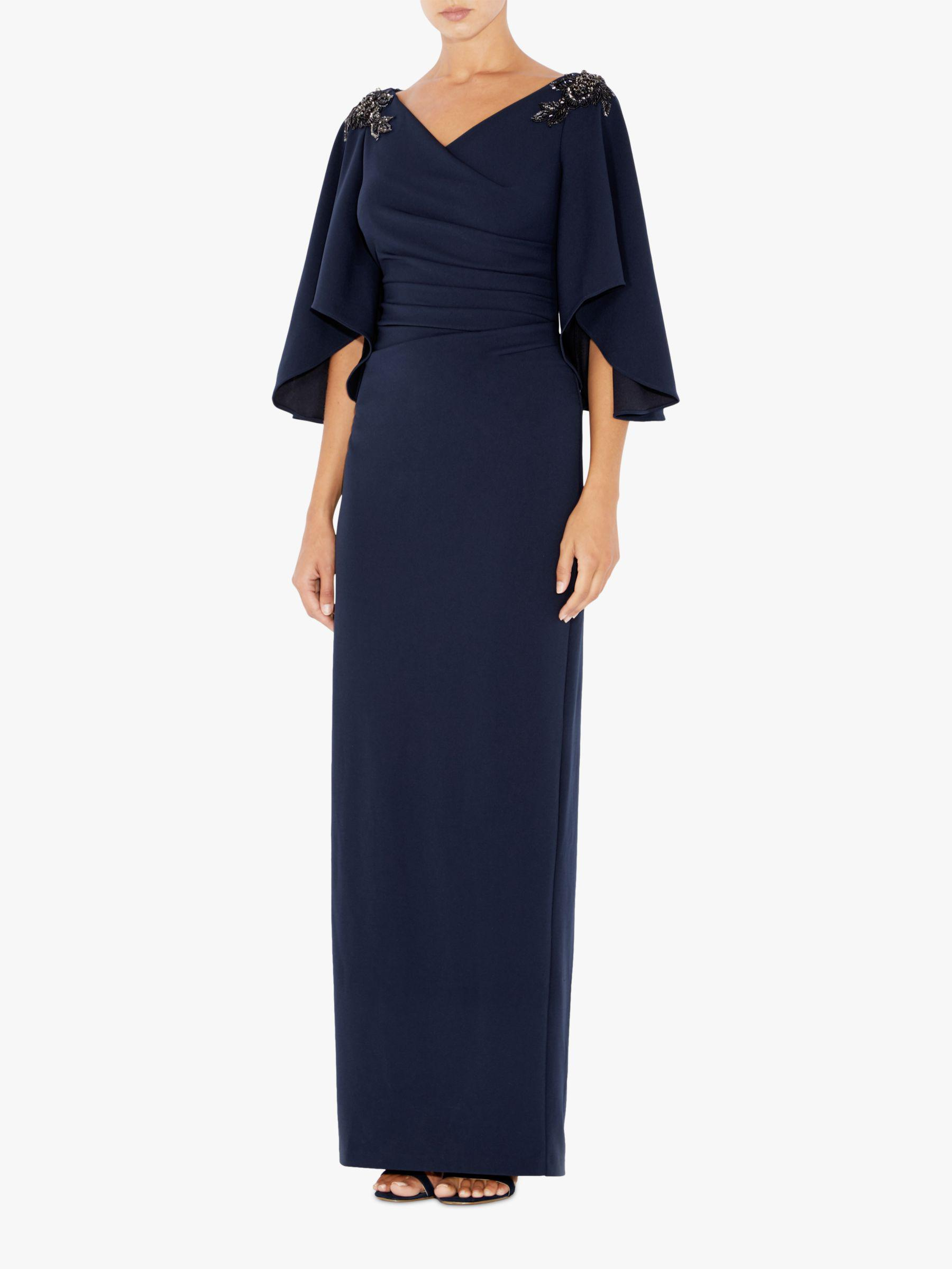 Adrianna Papell Ruched Embellished Dress In Blue Lyst
