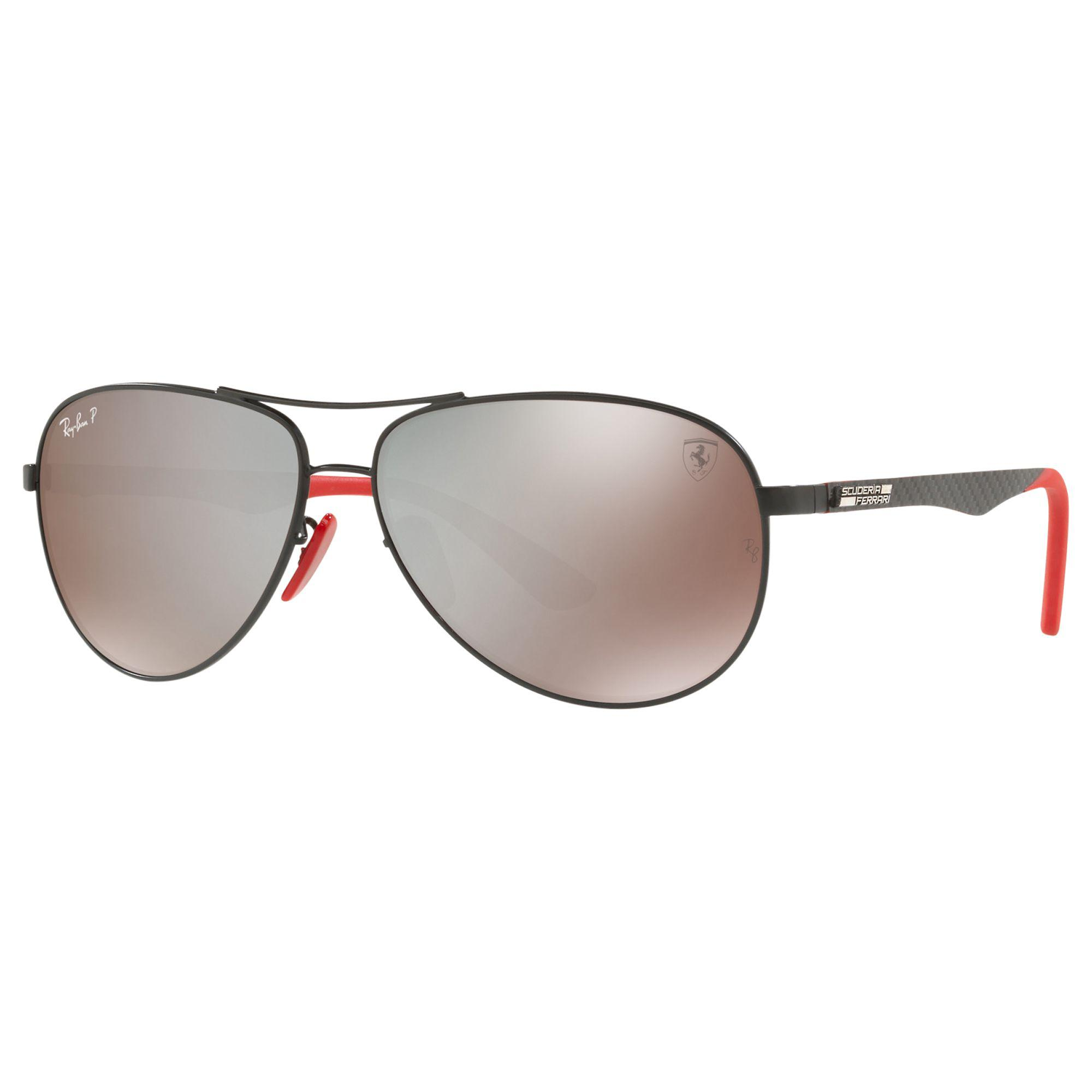 9c129f5ff49 Ray-Ban Rb8313m Polarised Scuderia Ferrari Aviator Sunglasses in ...