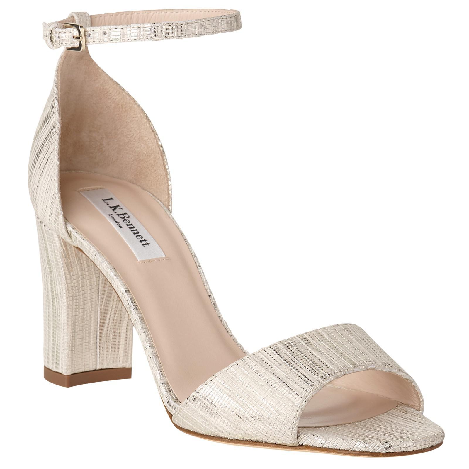 45bc608822fa Lyst - L.K.Bennett Helena Block Heeled Sandals in Natural