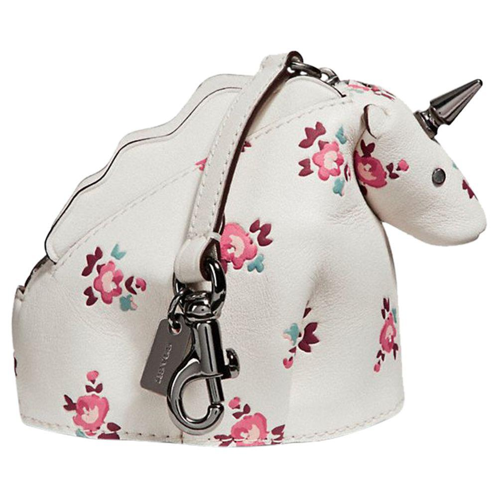 Coach Floral Unicorn Leather Coin Case Lyst Tiny Treasures I Love Unicorns Gallery