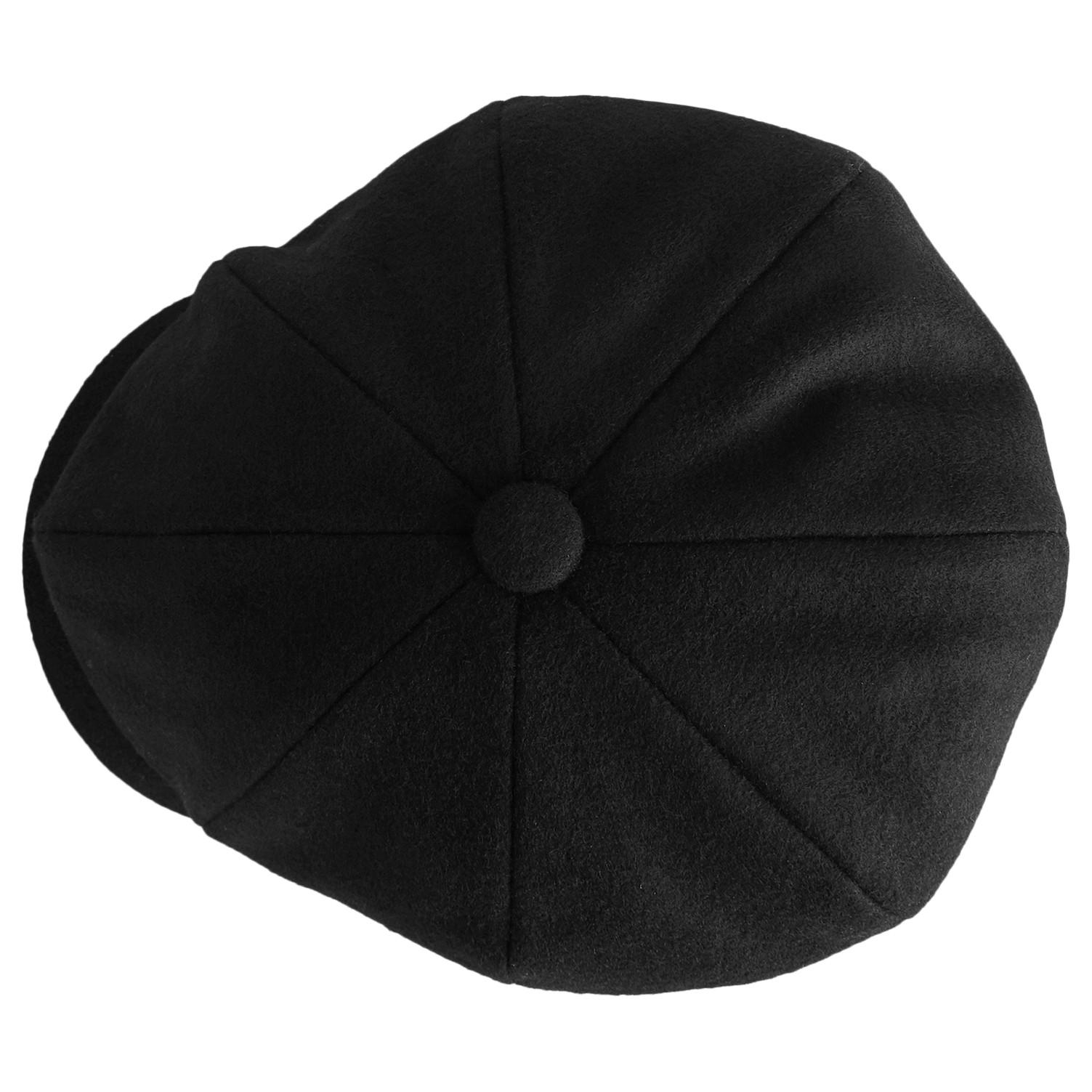 25501d62 Reiss Shelby Baker Boy Cap in Black for Men - Lyst