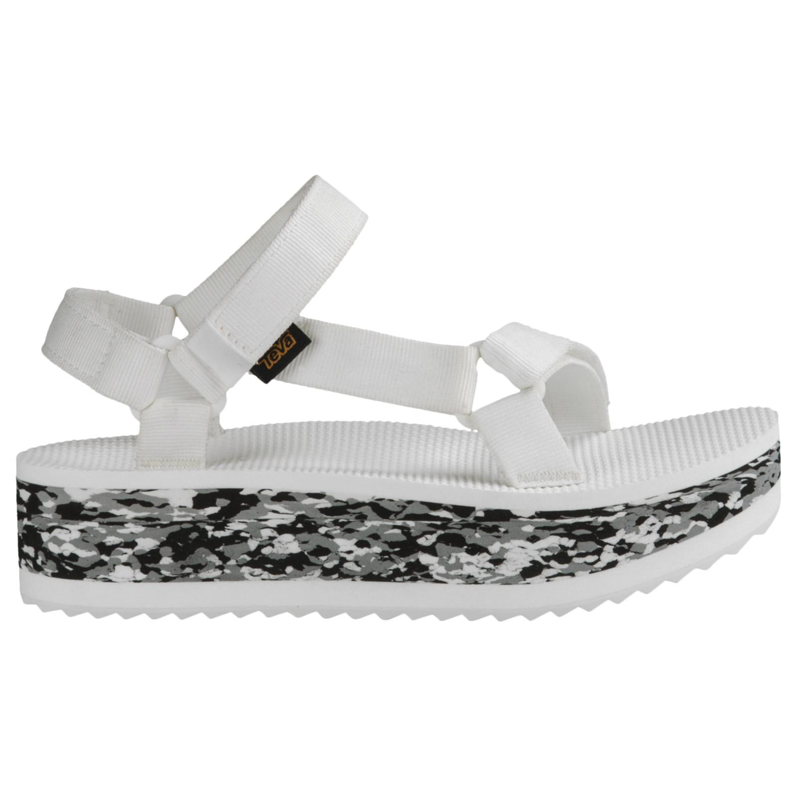 b04f437b7 Teva Flatform Marble Women s Sandals in White - Lyst
