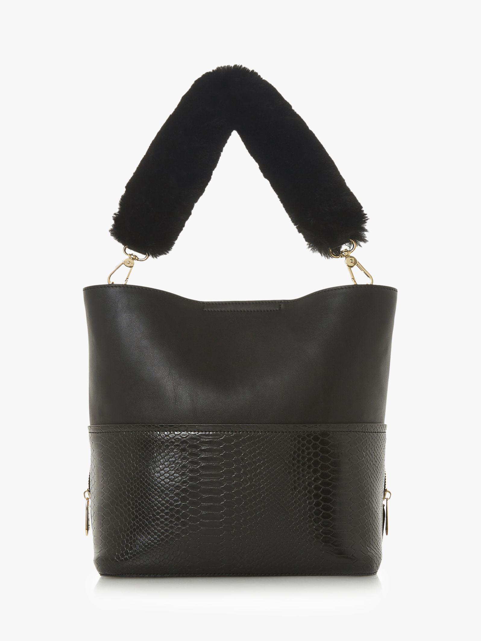 1807b0efe5 Dune - Black Dixiee Faux Fur Grab Bag - Lyst. View fullscreen