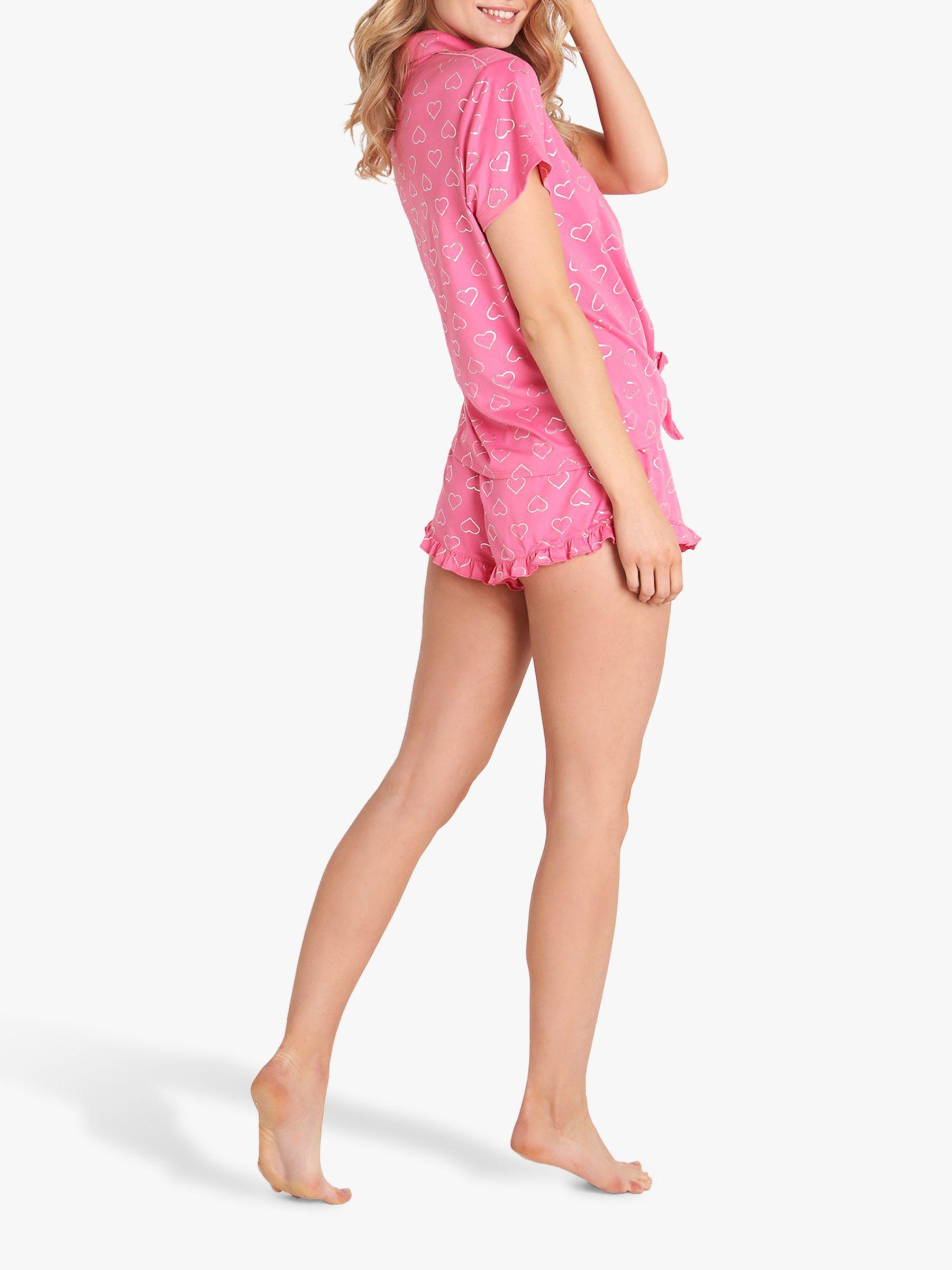 Chelsea Peers Foil Heart Short Pyjama Set in Pink - Lyst 363954318