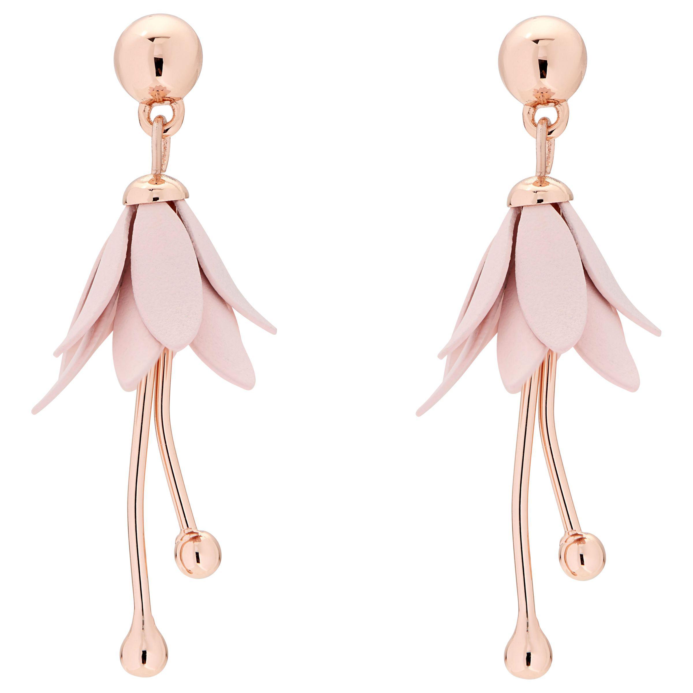 1d5e5f8a Ted Baker Fedora Mini Fuchsia Flower Drop Earrings in Pink - Lyst
