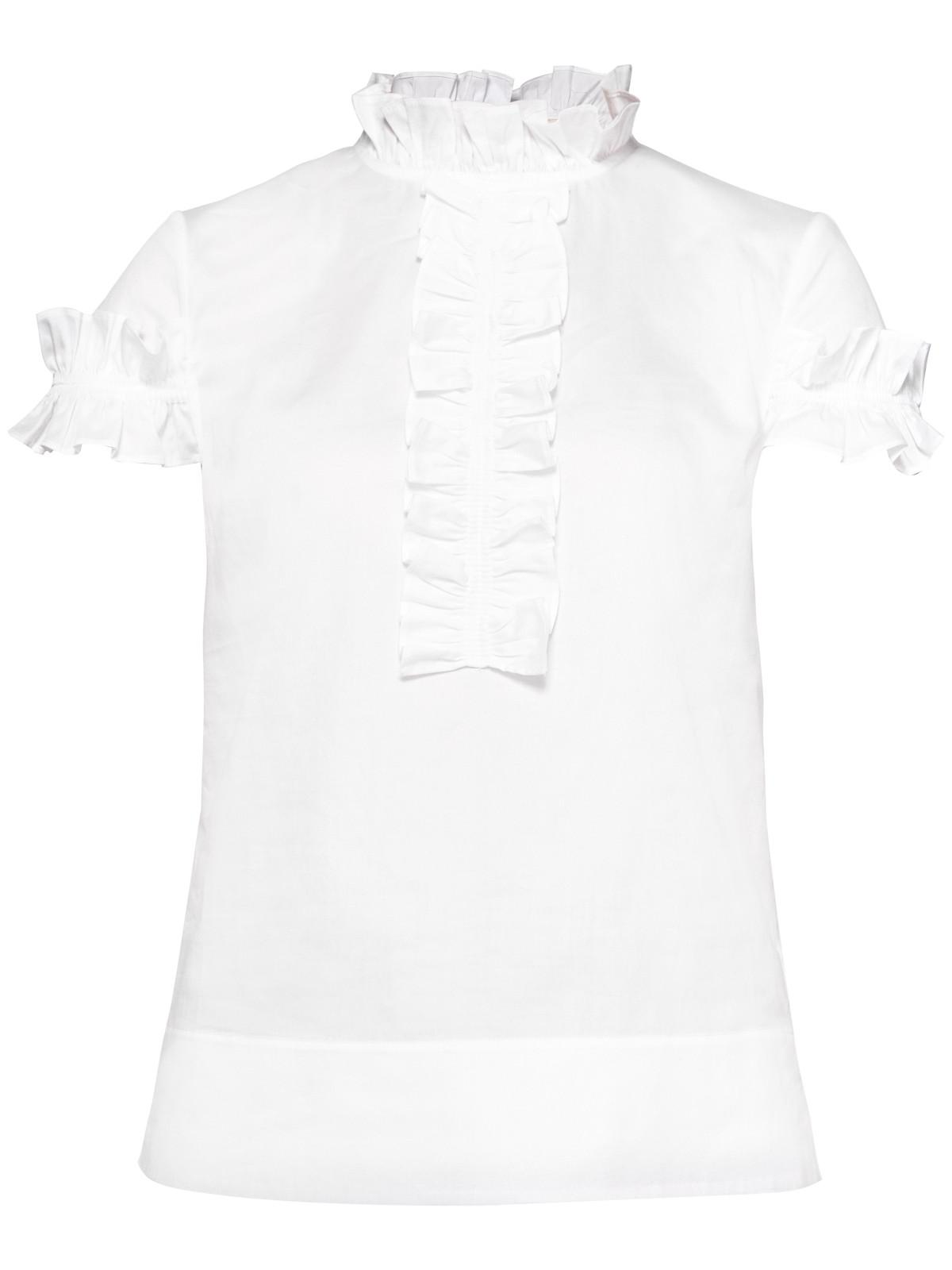 9ecdba4581bb07 Ted Baker Saidii Frill Detail Cotton Blouse in White - Lyst