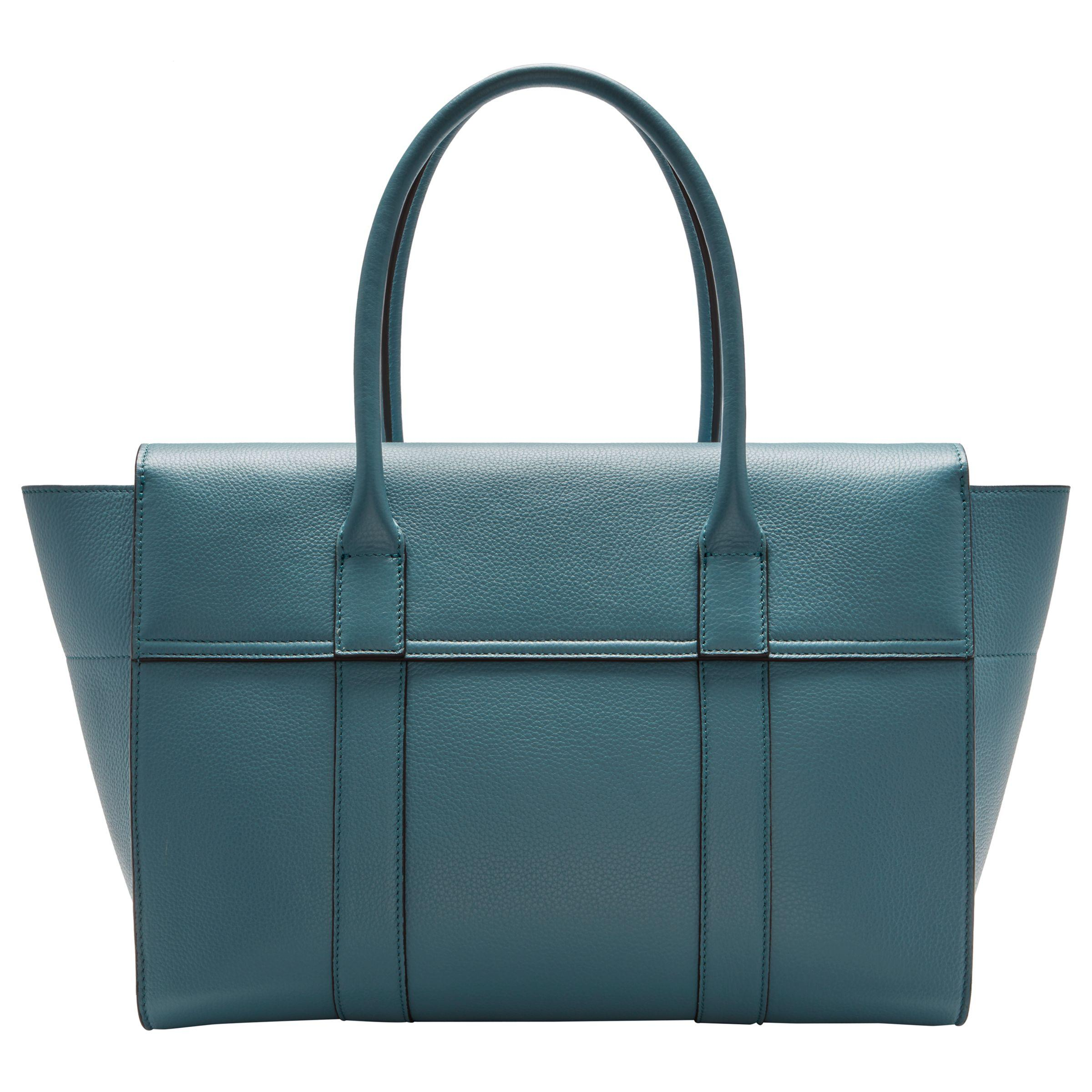 7e2336b528f2 John Lewis Mulberry Bayswater Grain Veg Tan Leather Bag in Blue - Lyst