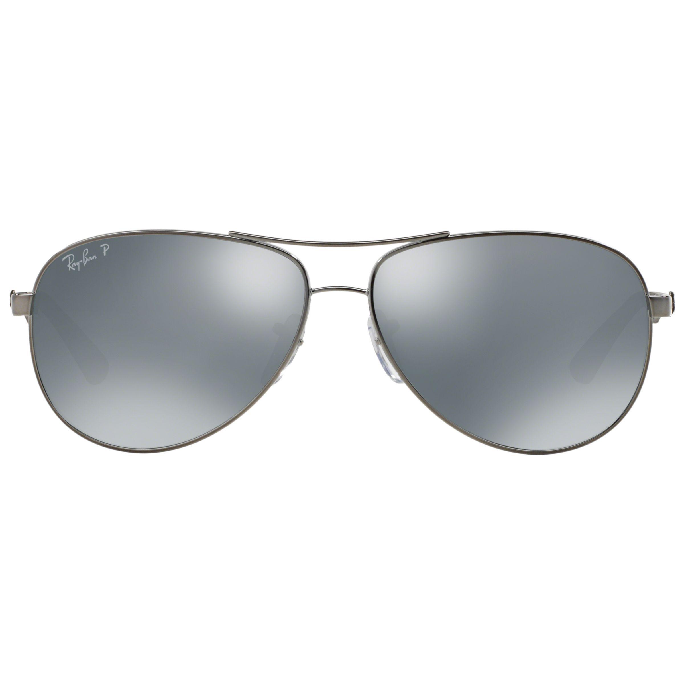 54dd81df59 Ray-Ban - Metallic Rb8313 Polarised Pilot Sunglasses for Men - Lyst. View  fullscreen