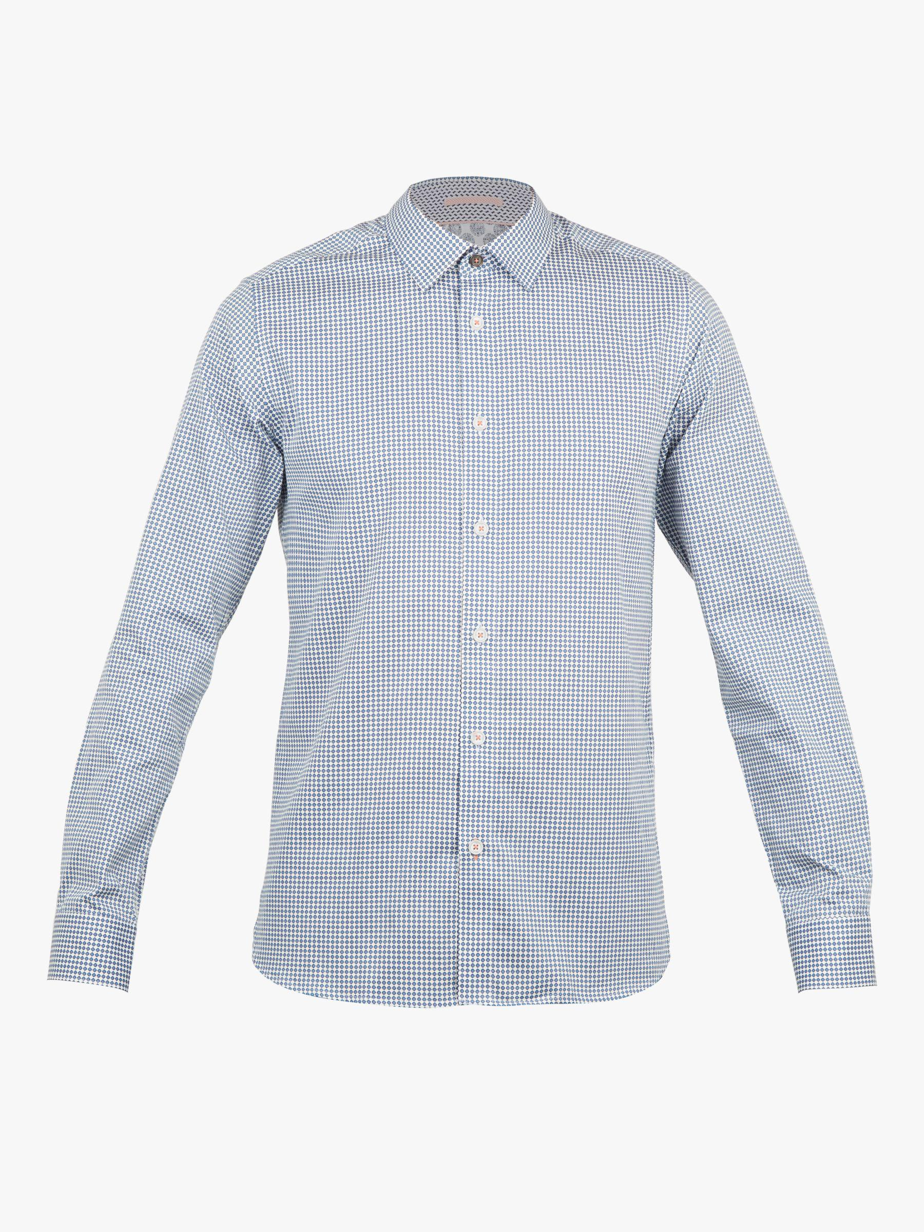 3b2f378402bf Ted Baker Jenkins Long Sleeve Printed Shirt in Blue for Men - Lyst