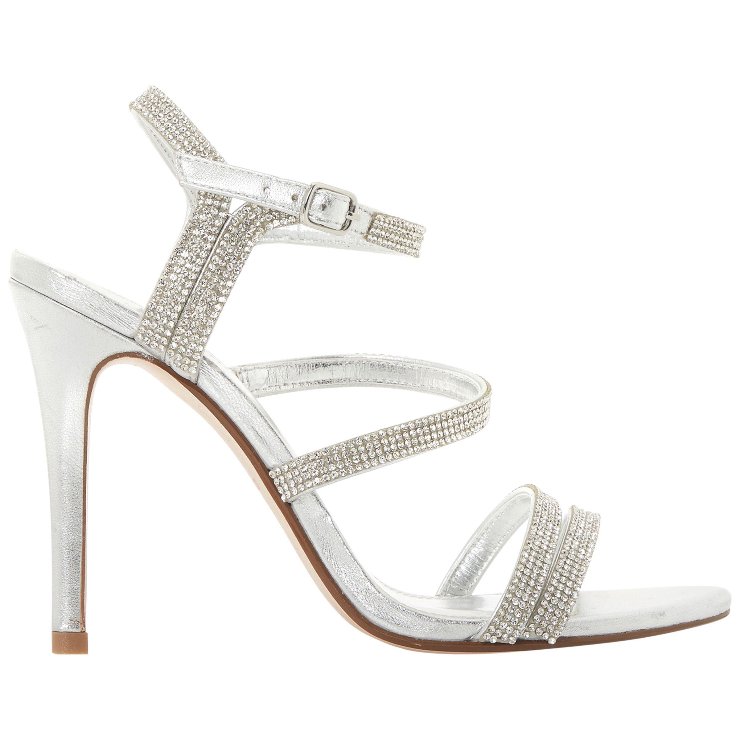 391b612a5847 Dune Madonna Embellished Strappy Stiletto Heel Sandals in Metallic ...