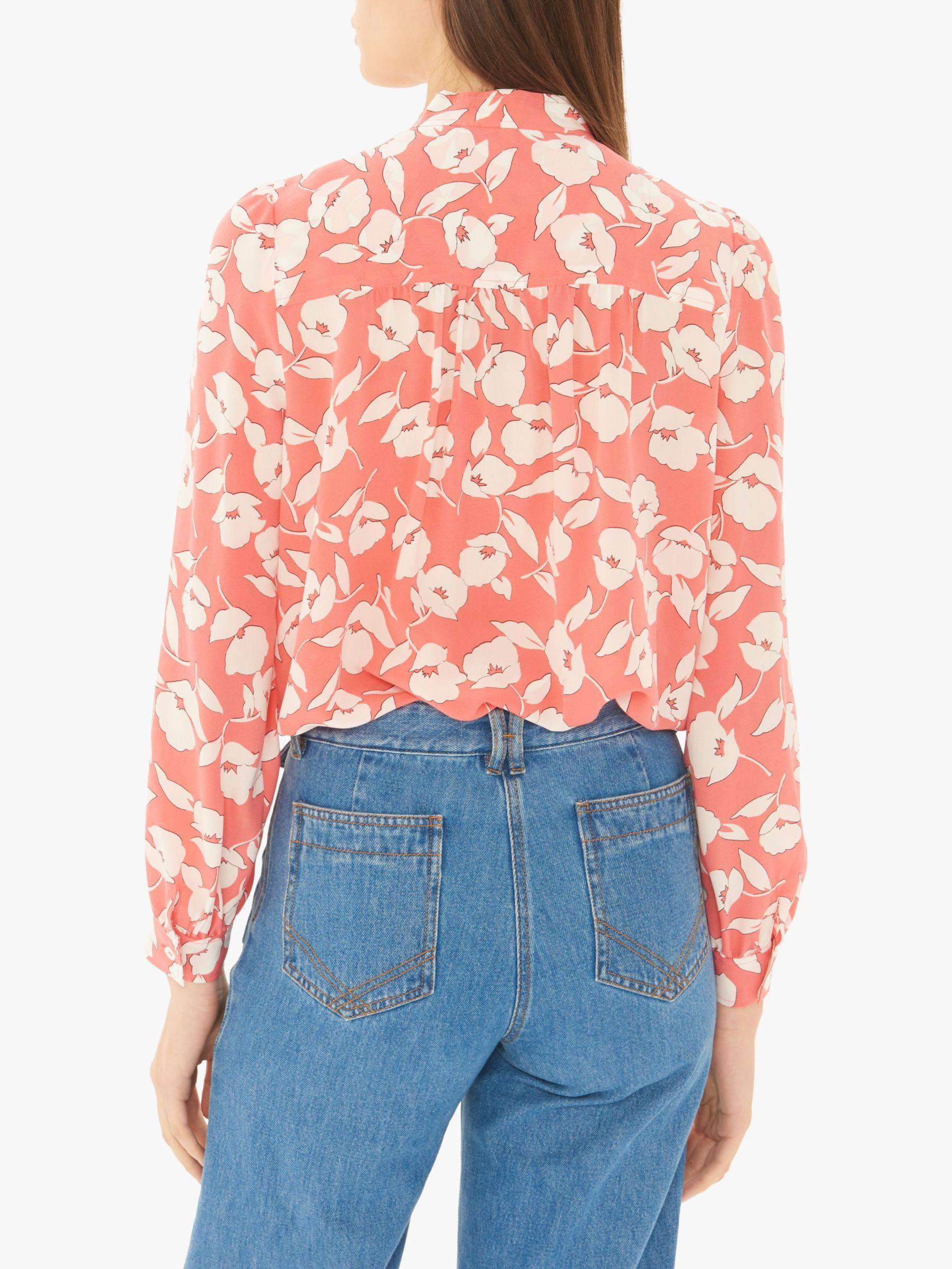 046b24c64eab82 Gerard Darel Elysa Silk Floral Shirt in Pink - Lyst
