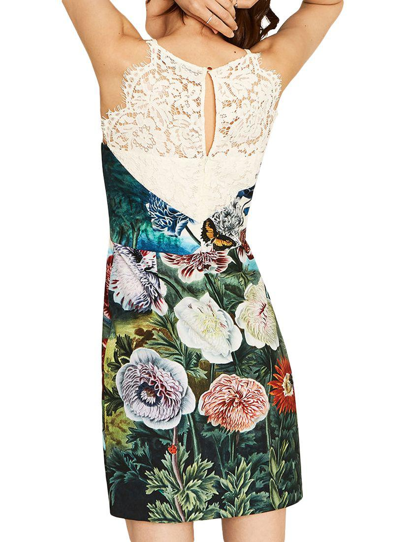 48f1ee2de98b Oasis Nhm Lace Back Shift Dress - Lyst