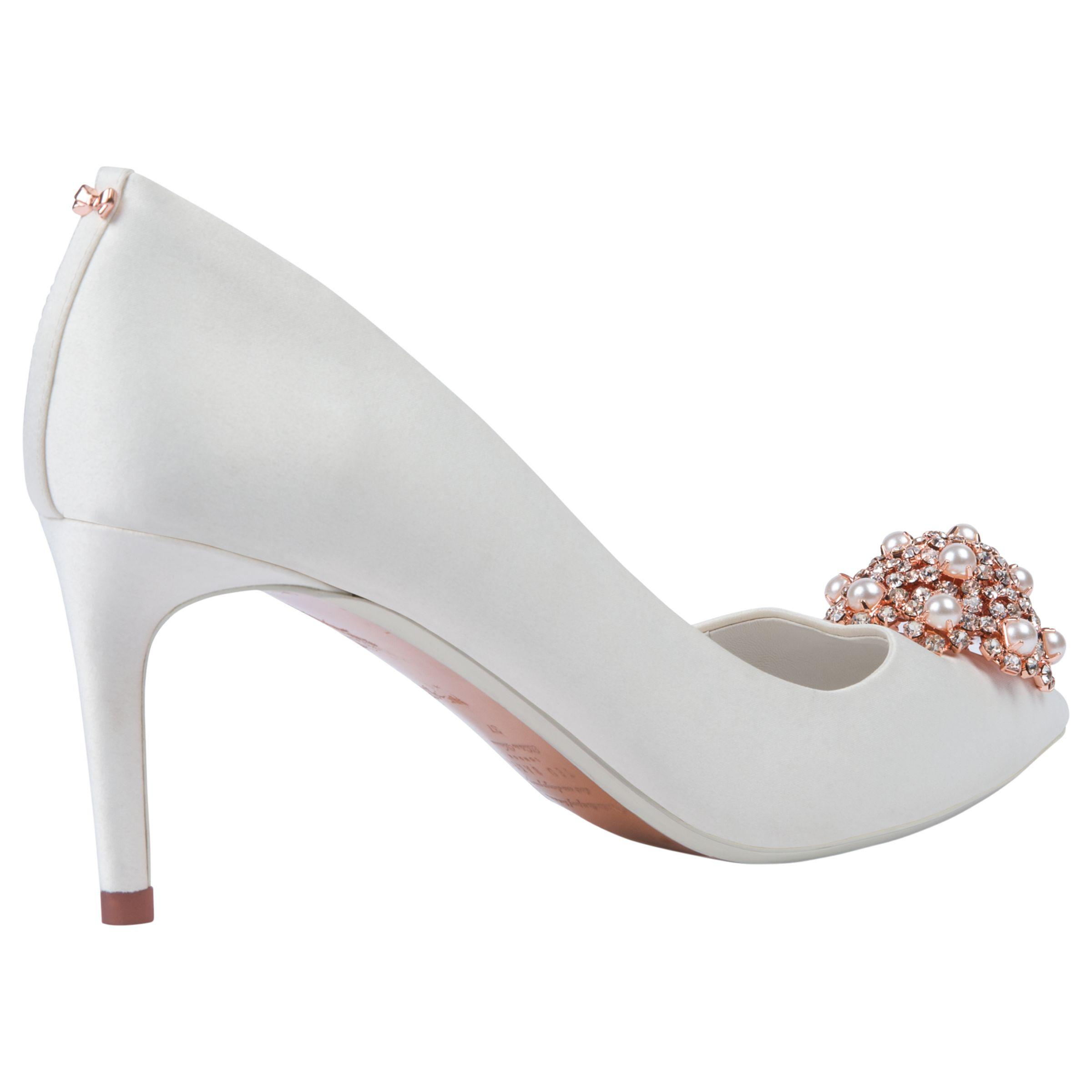9a0c4a4775a Ted Baker - White Dahrlin Embellished Court Shoes - Lyst. View fullscreen