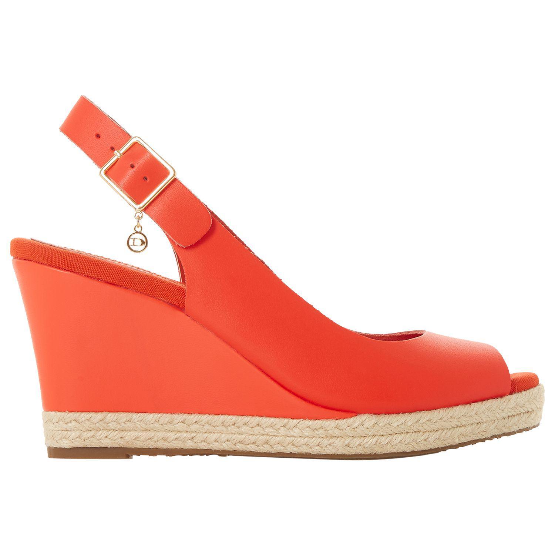 0b732bf34f31 Dune Klicks Wedge Heel Sandals in Orange - Lyst