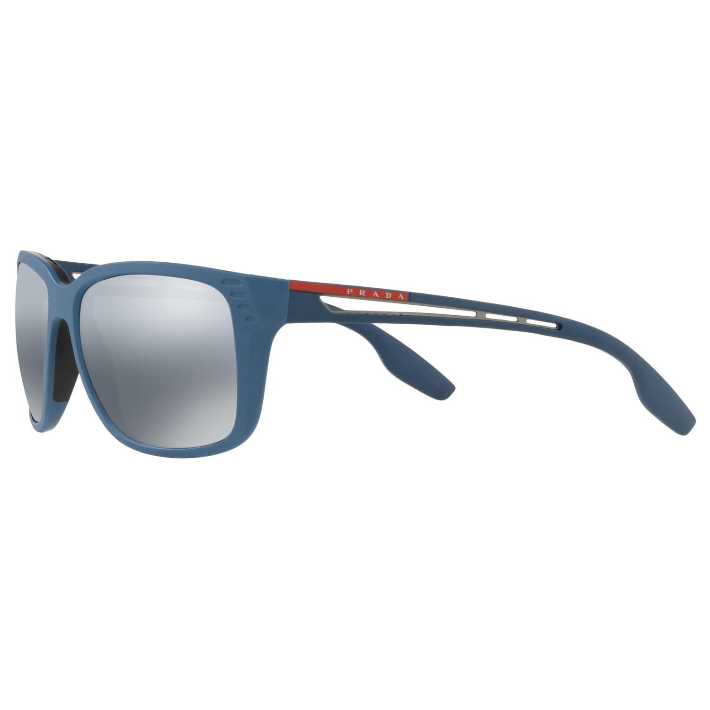 9641529d415 Prada - Blue Linea Rossa Ps 03ts Men s Polarised Rectangular Sunglasses for  Men - Lyst. View fullscreen