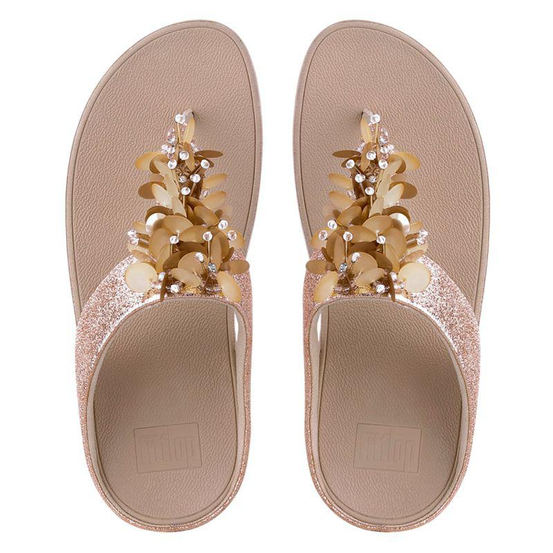 034b23e29 John Lewis Fitflop Boogaloo Toe Post Sandals in Metallic - Lyst