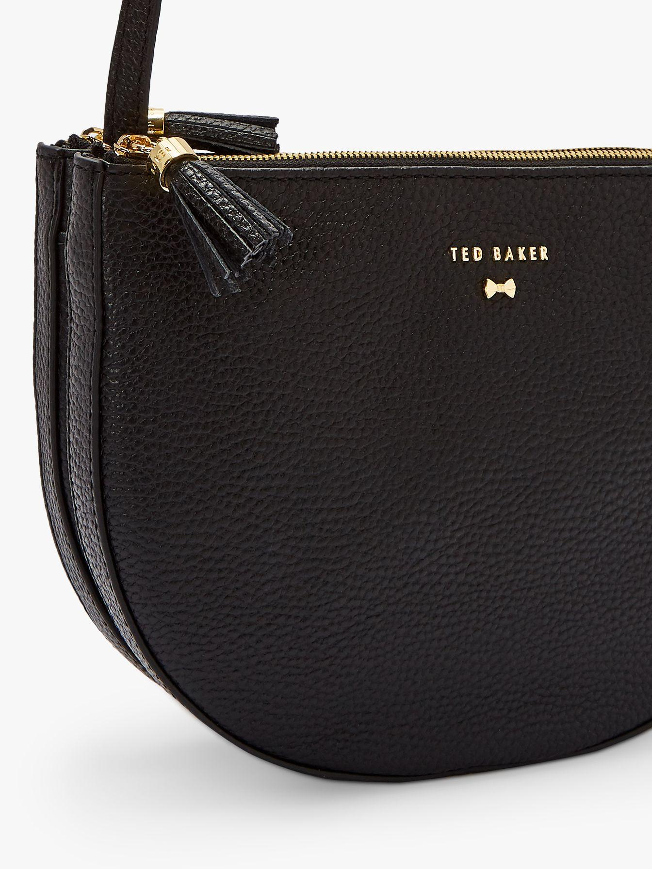 42e65b4e3f5d Ted Baker - White Suzzane Leather Double Zip Cross Body Bag - Lyst. View  fullscreen