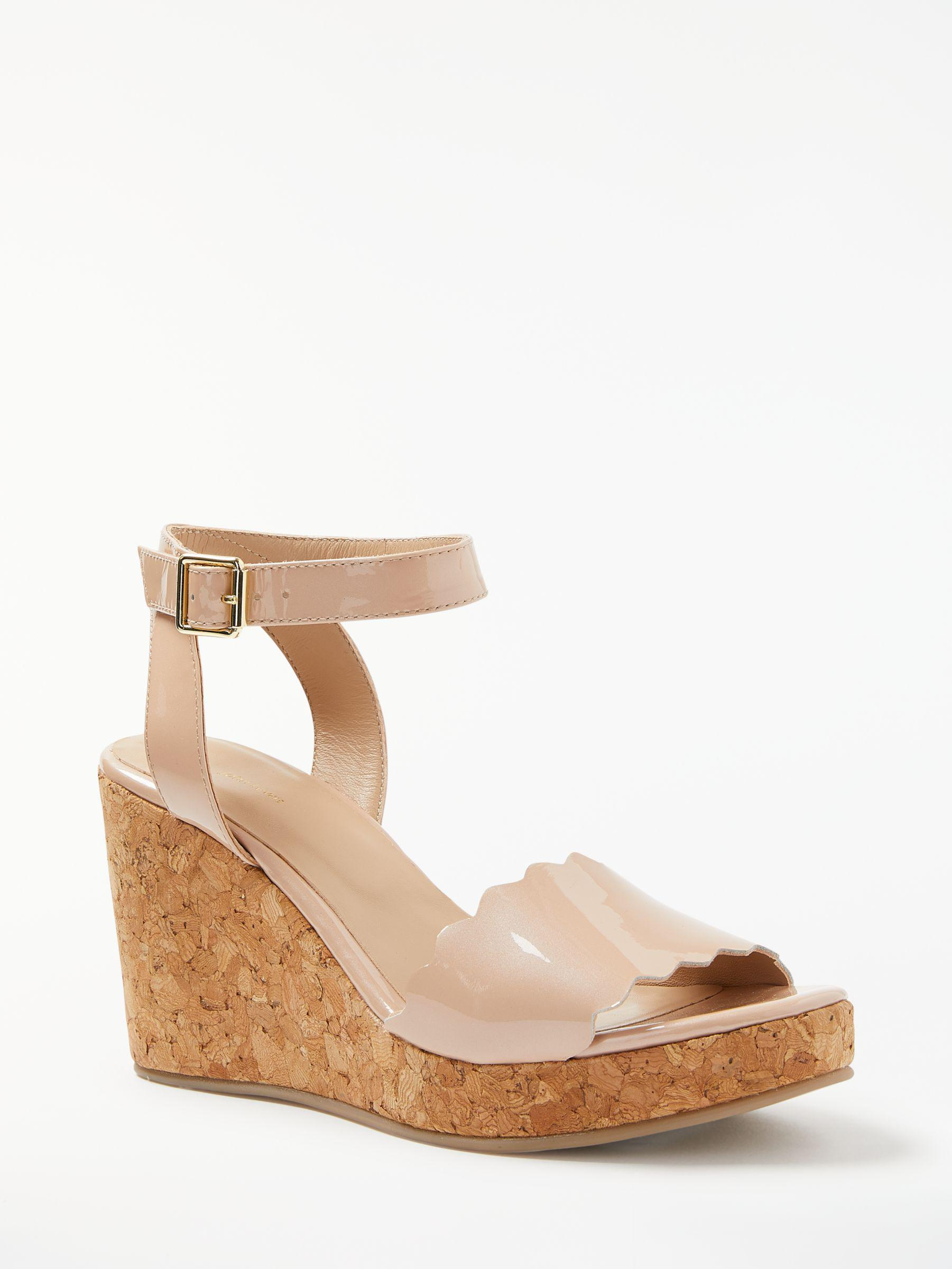 088147b44f6 John Lewis Katrina Wedge Heel Sandals in Natural - Lyst