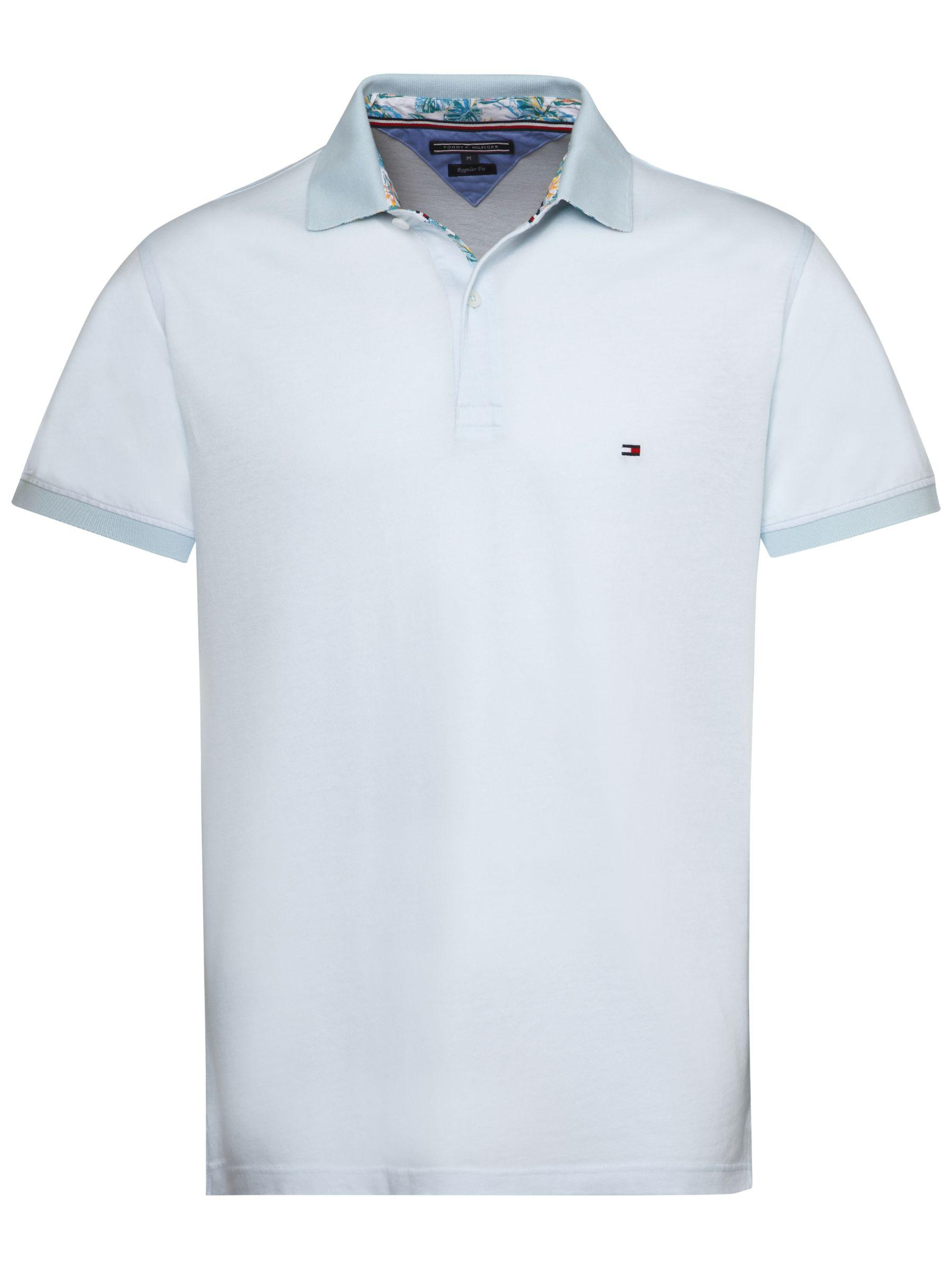 fb43f6f7 Tommy Hilfiger Printed Undercollar Polo Shirt in Blue for Men - Lyst