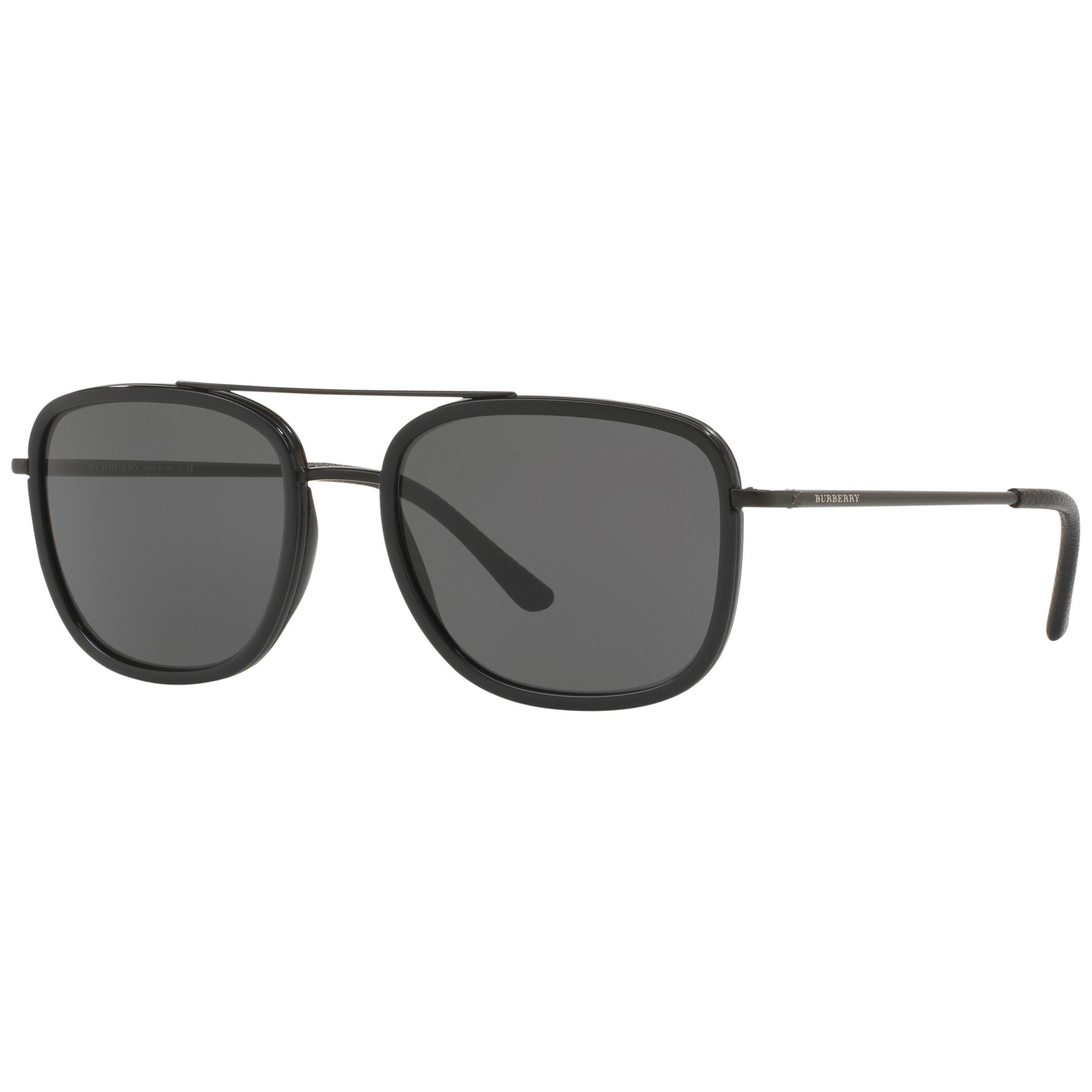 5f922714de1 Burberry Be3085 Square Sunglasses in Black for Men - Lyst